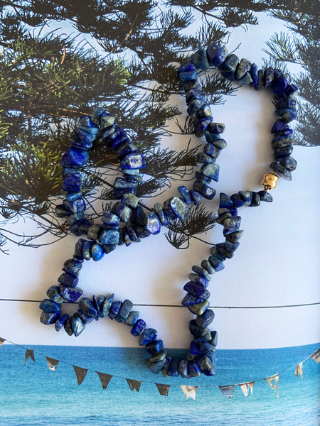 The Surfer Boy Necklace (Lapis Lazuli)