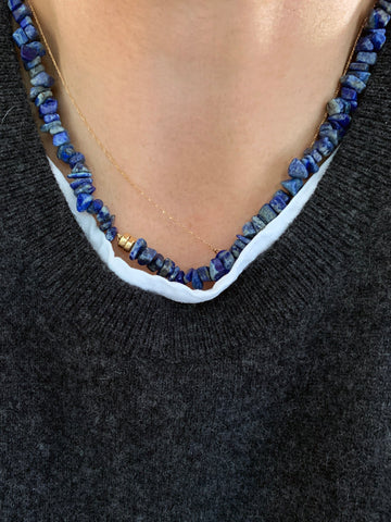 The Surfer Boy Necklace (Lapis Lazuli) • NEW