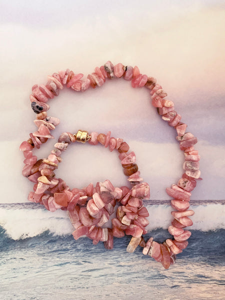 The Surfer Boy Necklace (Rhodochrosite) • NEW