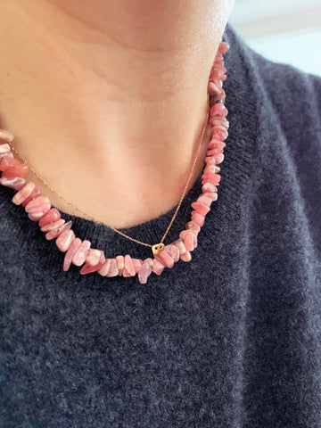 The Surfer Boy Necklace (Rhodochrosite)