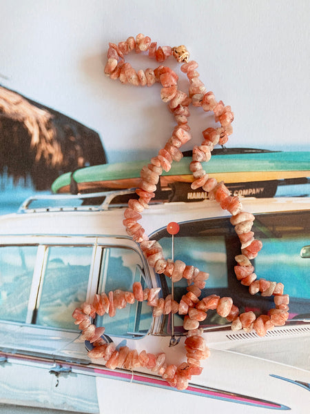 The Surfer Boy Necklace (Sunstone)