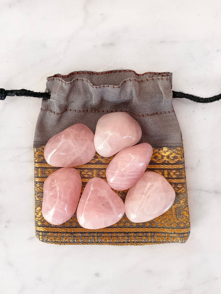 ROSE QUARTZ Tumbled Crystal Starter Set (6 pieces) • PRE-ORDER