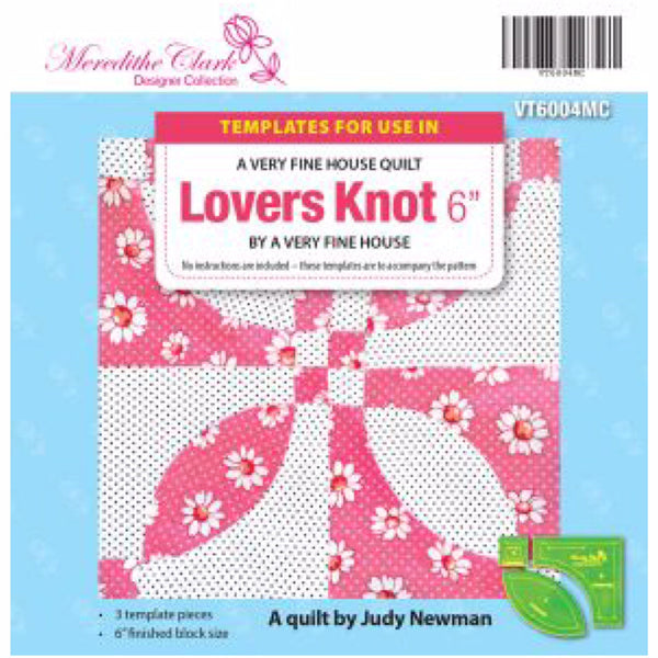 "Patchwork Template - LOVERS KNOT 6""- Item Code VT6004MC - Bay Quilts"