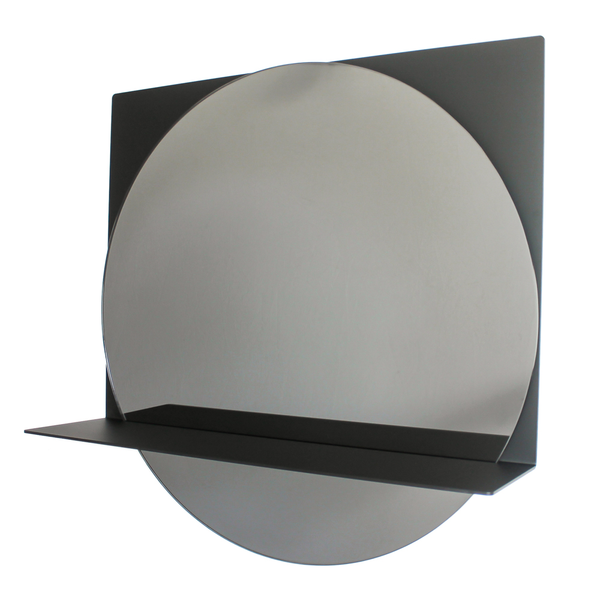 contemporary mirror, black, smoked glass