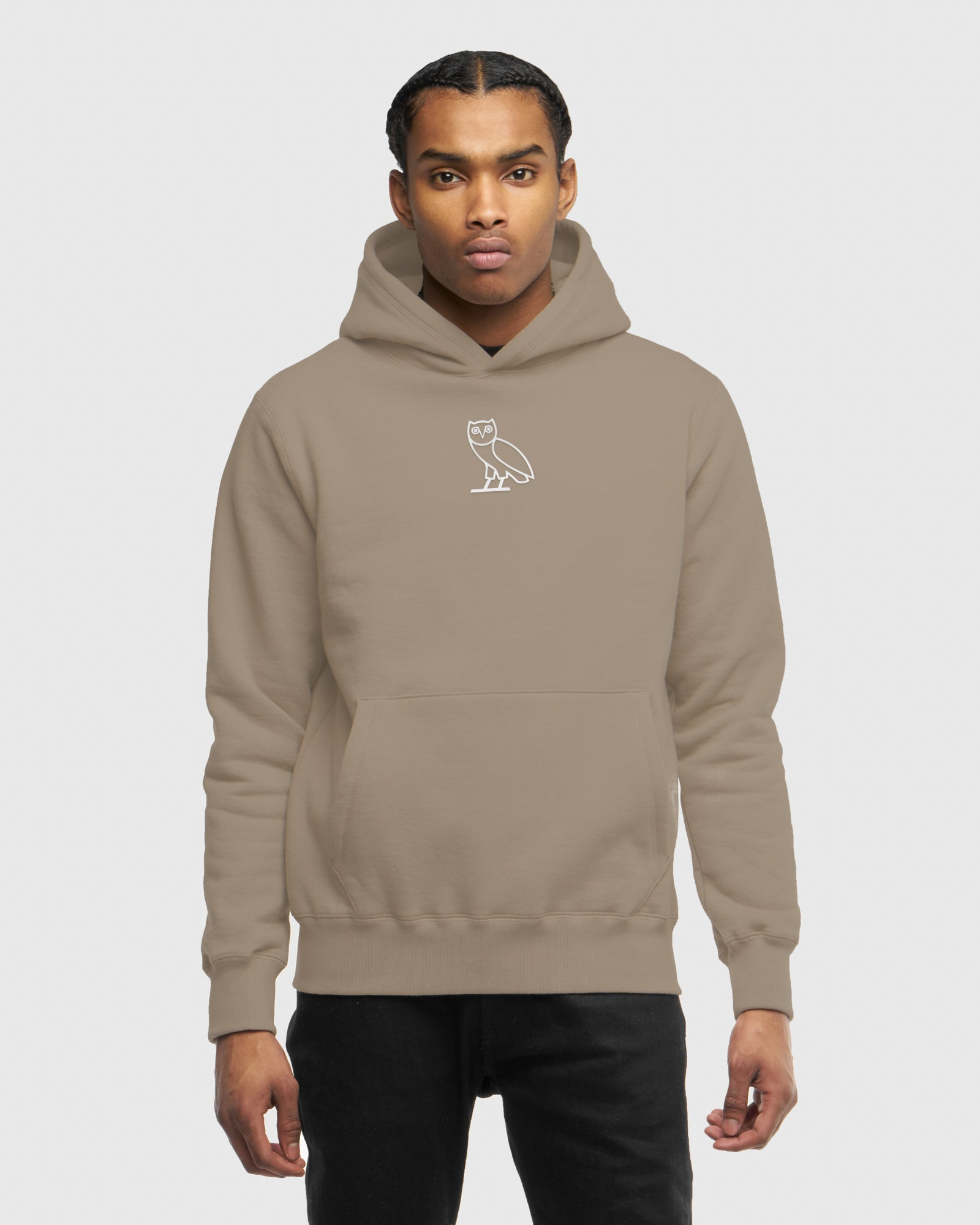 3fa242e948af 3D CLASSIC OWL HOODIE - WARM GREY – October s Very Own Online US