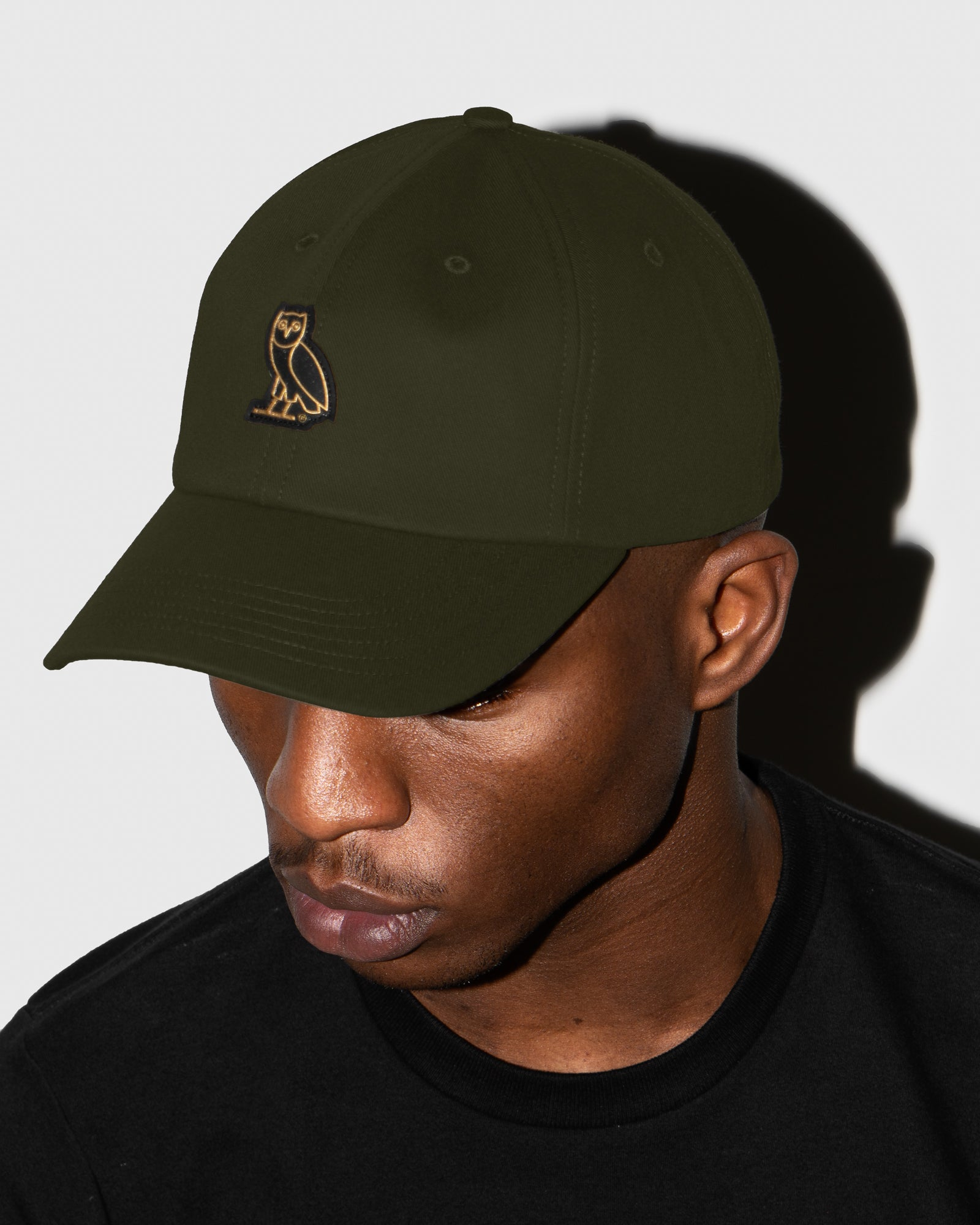 OVO COTTON TWILL CAP - MILITARY GREEN IMAGE #2