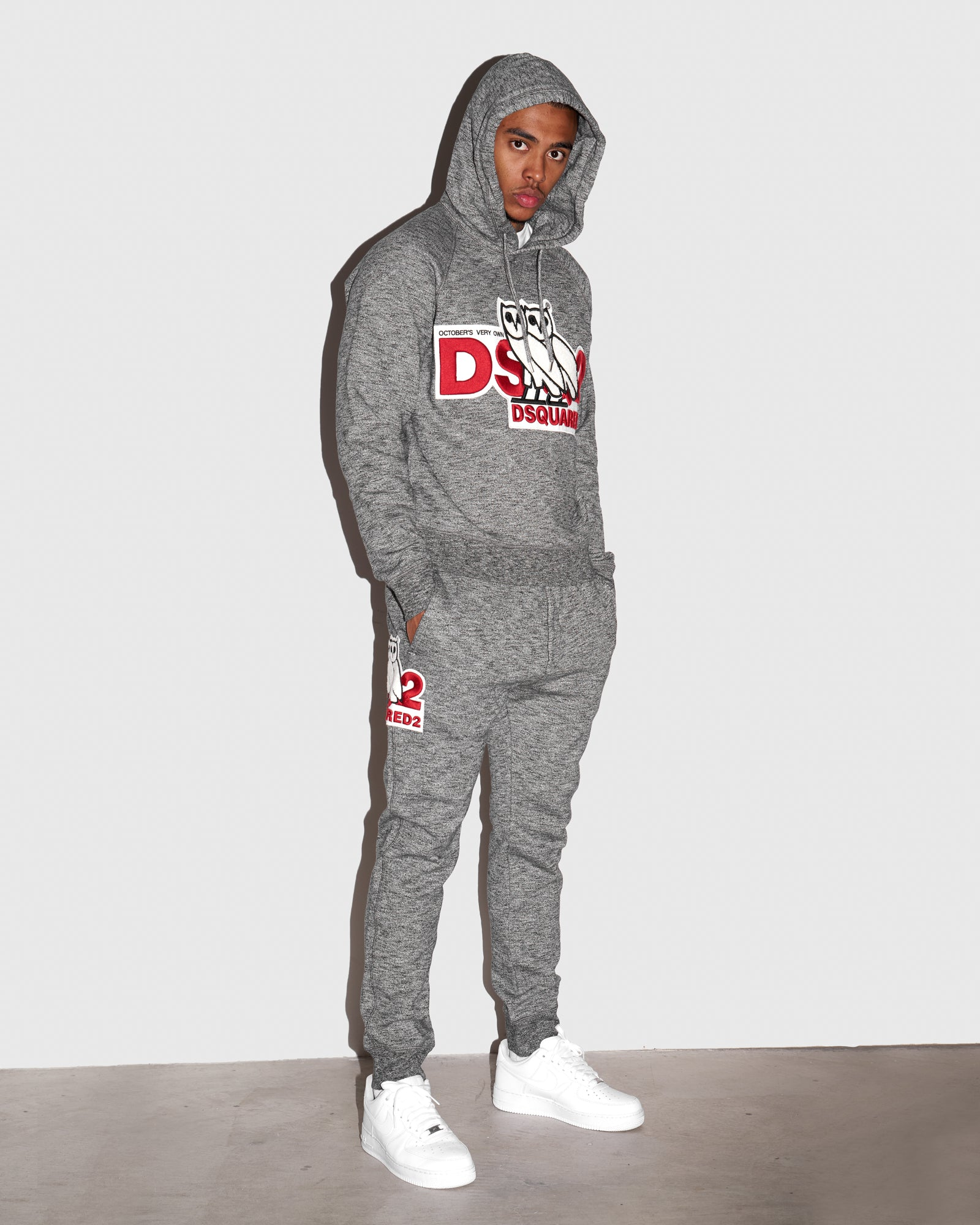 OVO x DSQUARED2 SWEATPANT - GREY IMAGE #2