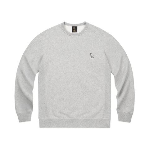 MID-WEIGHT FRENCH TERRY CREWNECK - GREY
