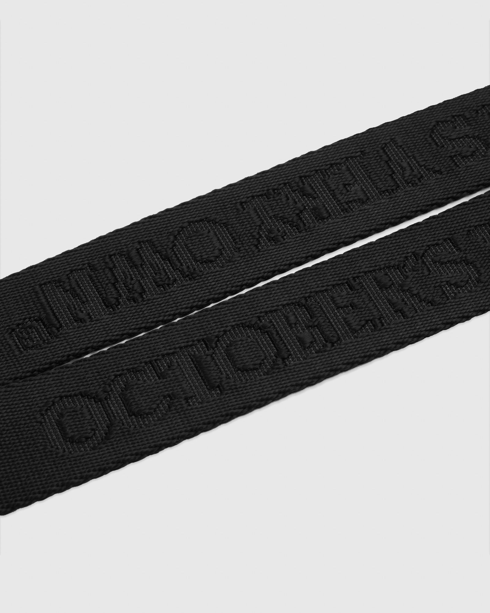 DEBOSSED NYLON LANYARD - BLACK