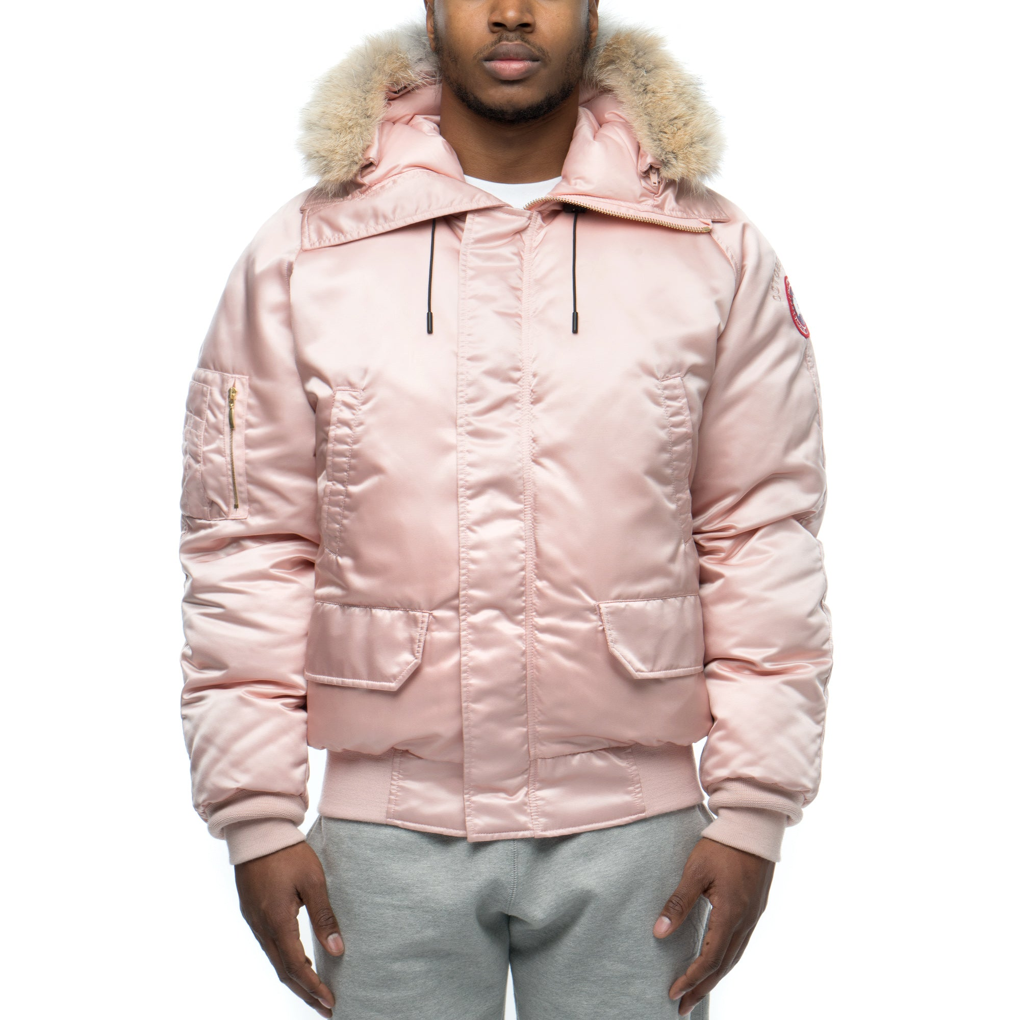 canada goose x ovo pink