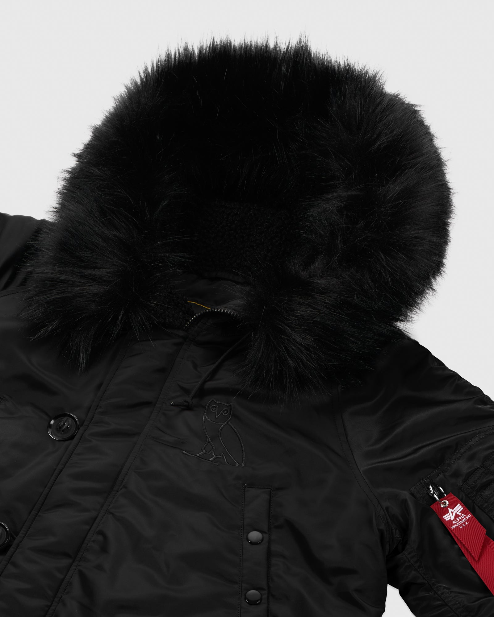 OVO x ALPHA INDUSTRIES N-3B PARKA - BLACK