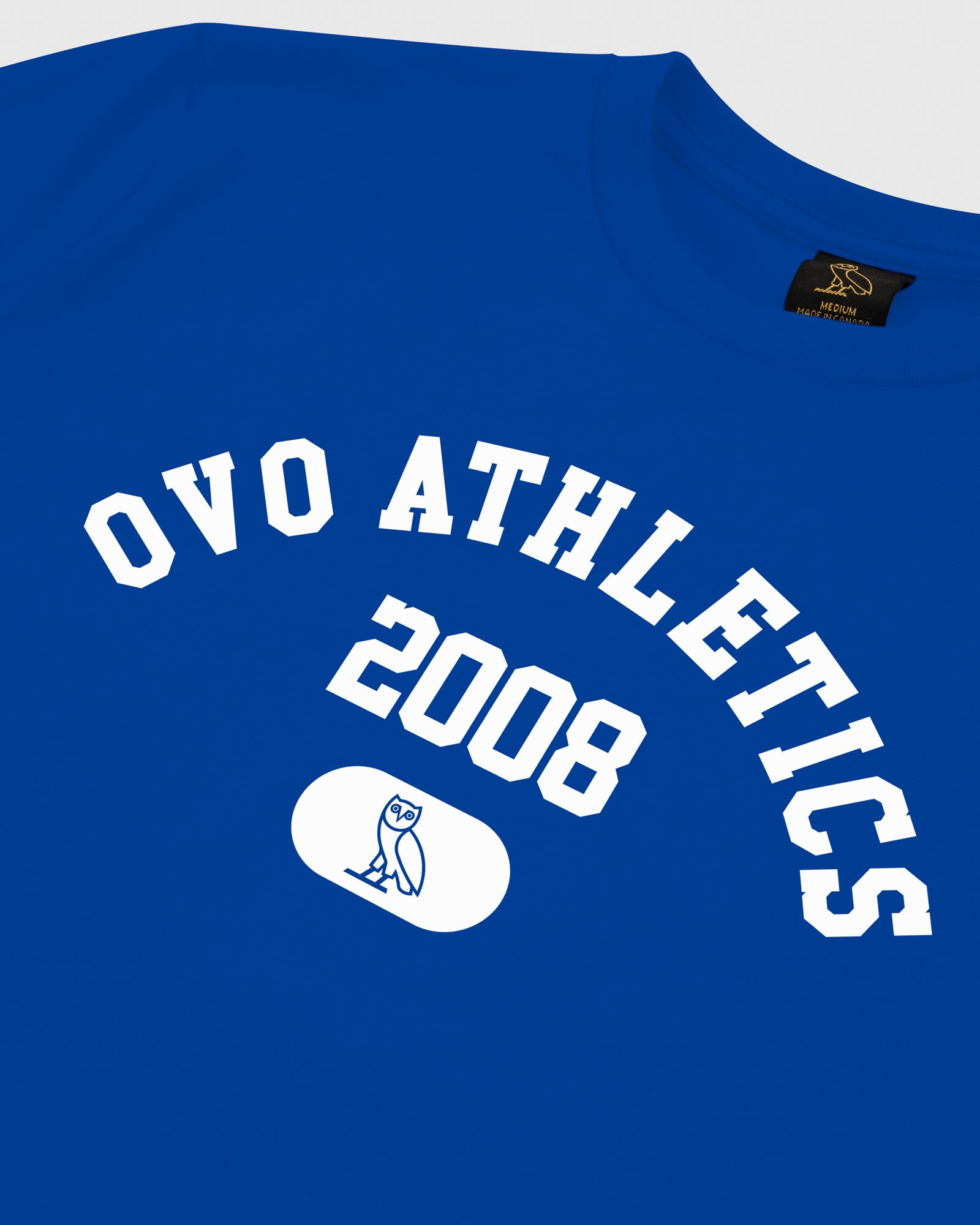OVO ATHLETICS T-SHIRT - ROYAL BLUE IMAGE #3