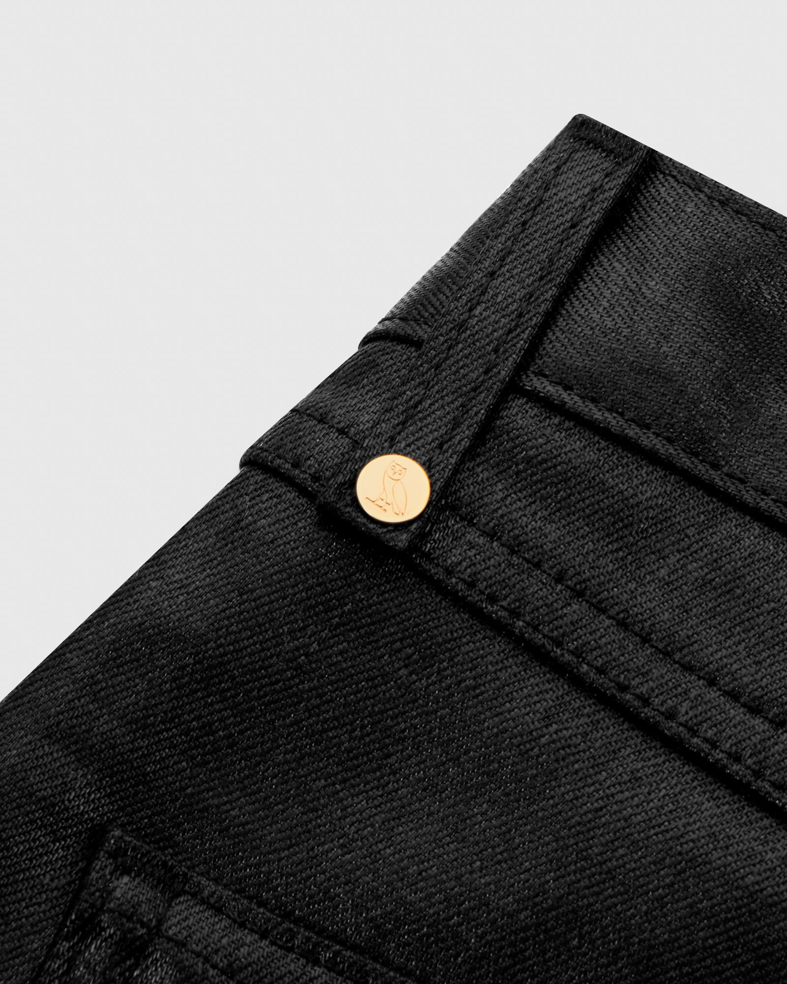 WAXED JEANS - BLACK IMAGE #5