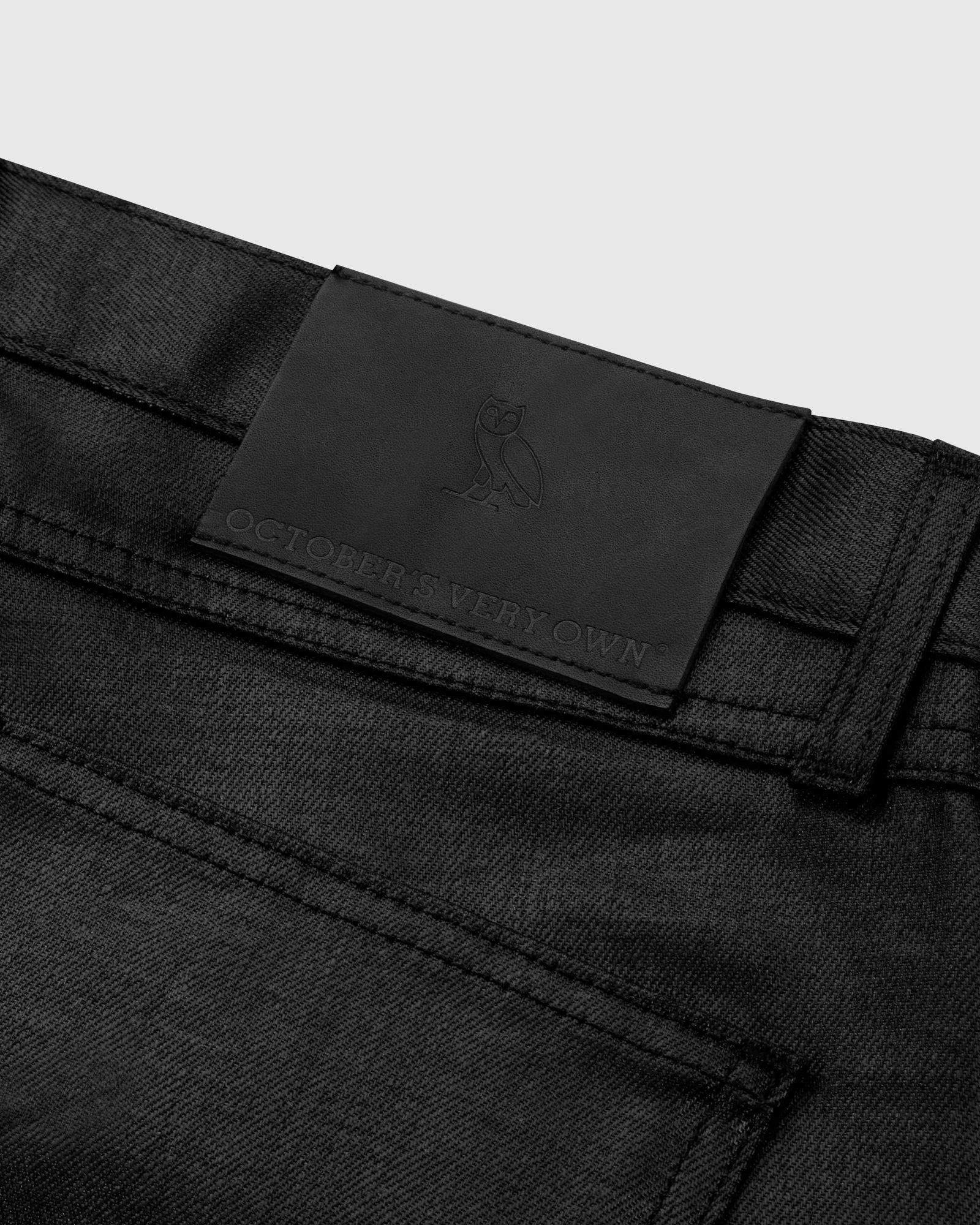 WAXED JEANS - BLACK IMAGE #6