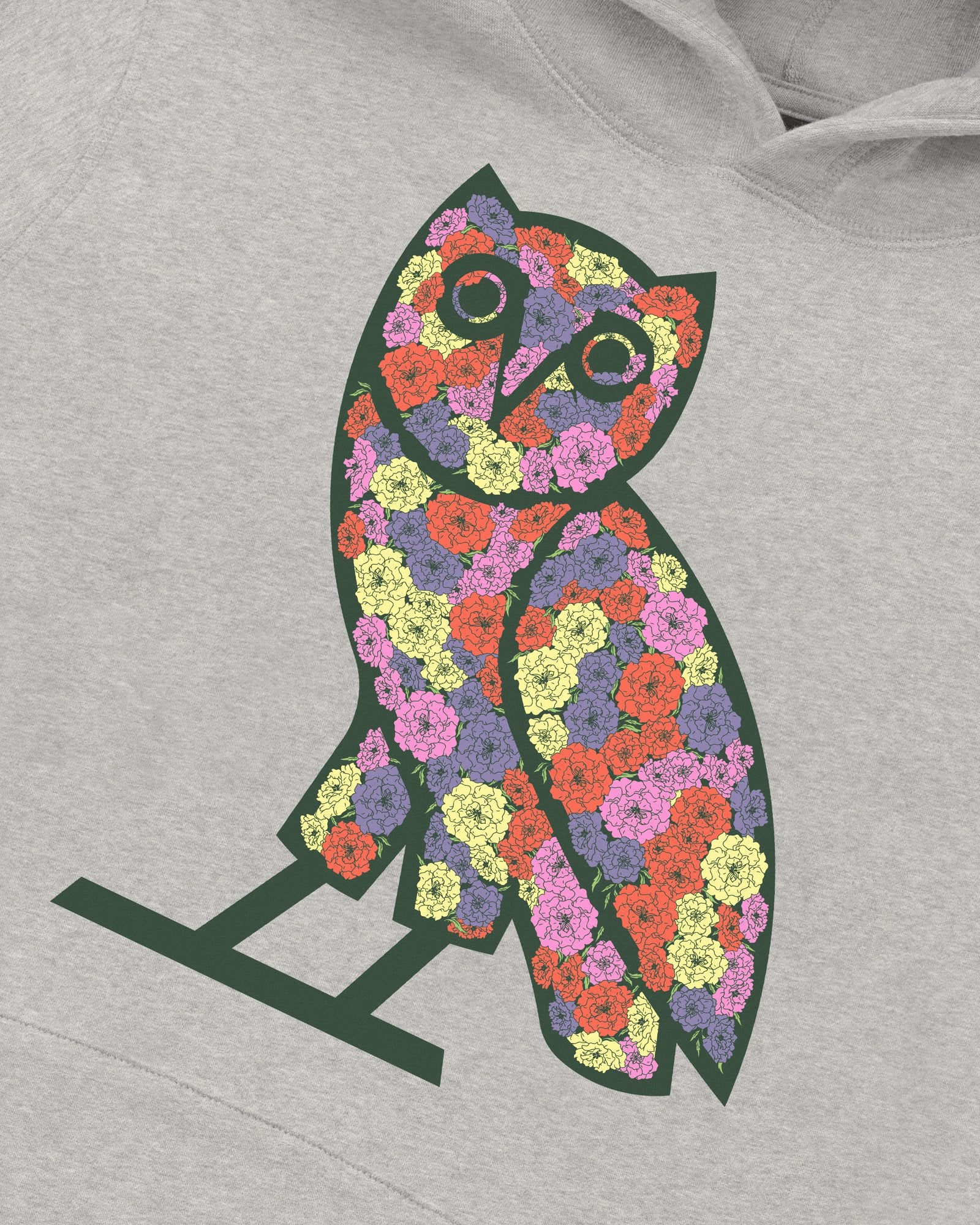 CELEBRATION OWL HOODIE - HEATHER GREY IMAGE #3
