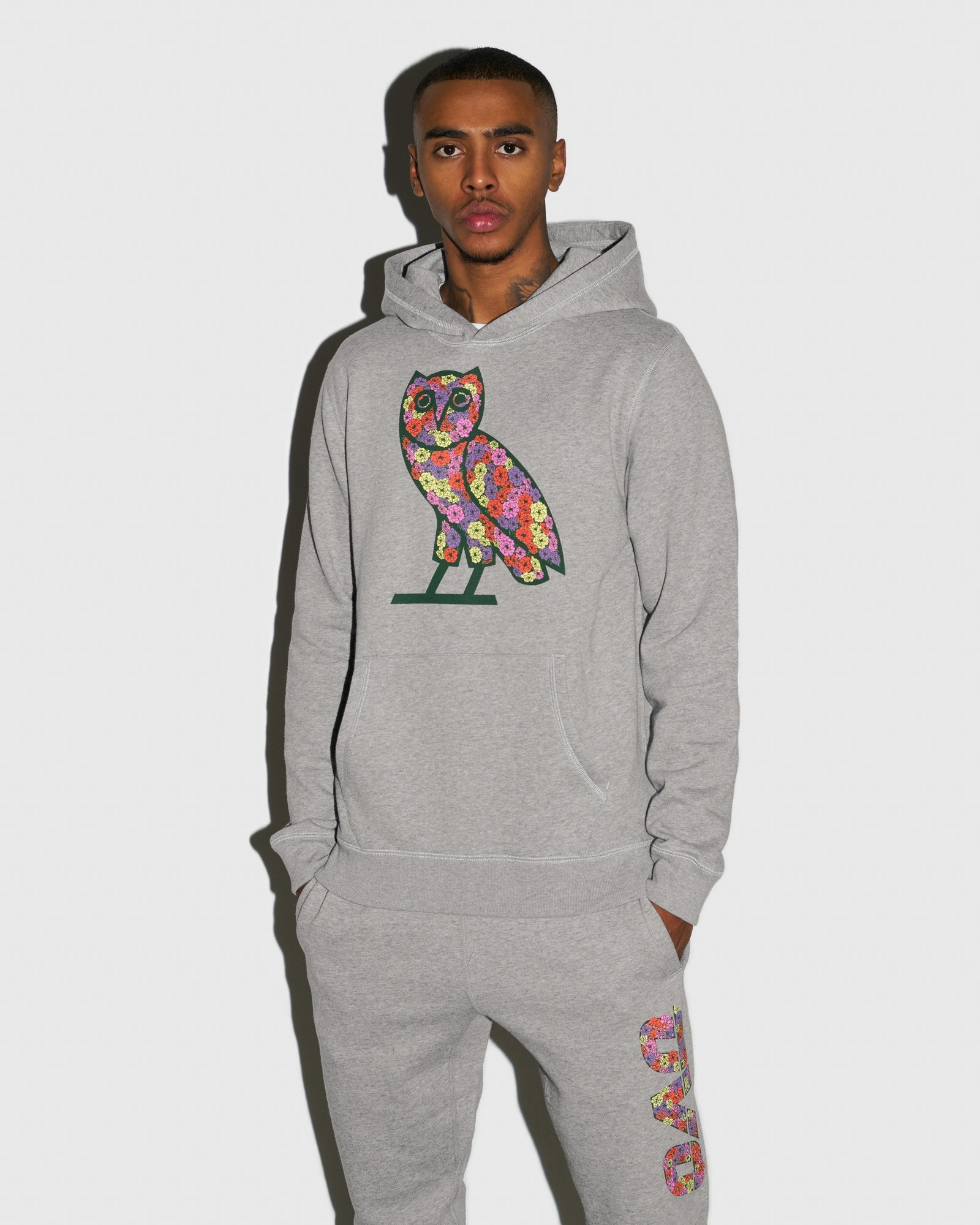 CELEBRATION OWL HOODIE - HEATHER GREY IMAGE #2