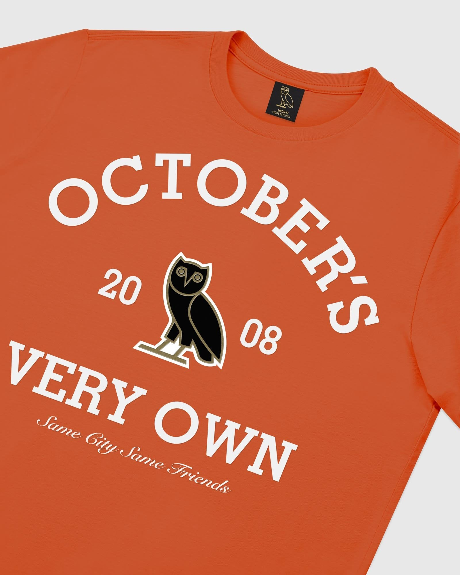 COLLEGIATE ARCH LONGSLEEVE T-SHIRT - ORANGE IMAGE #3