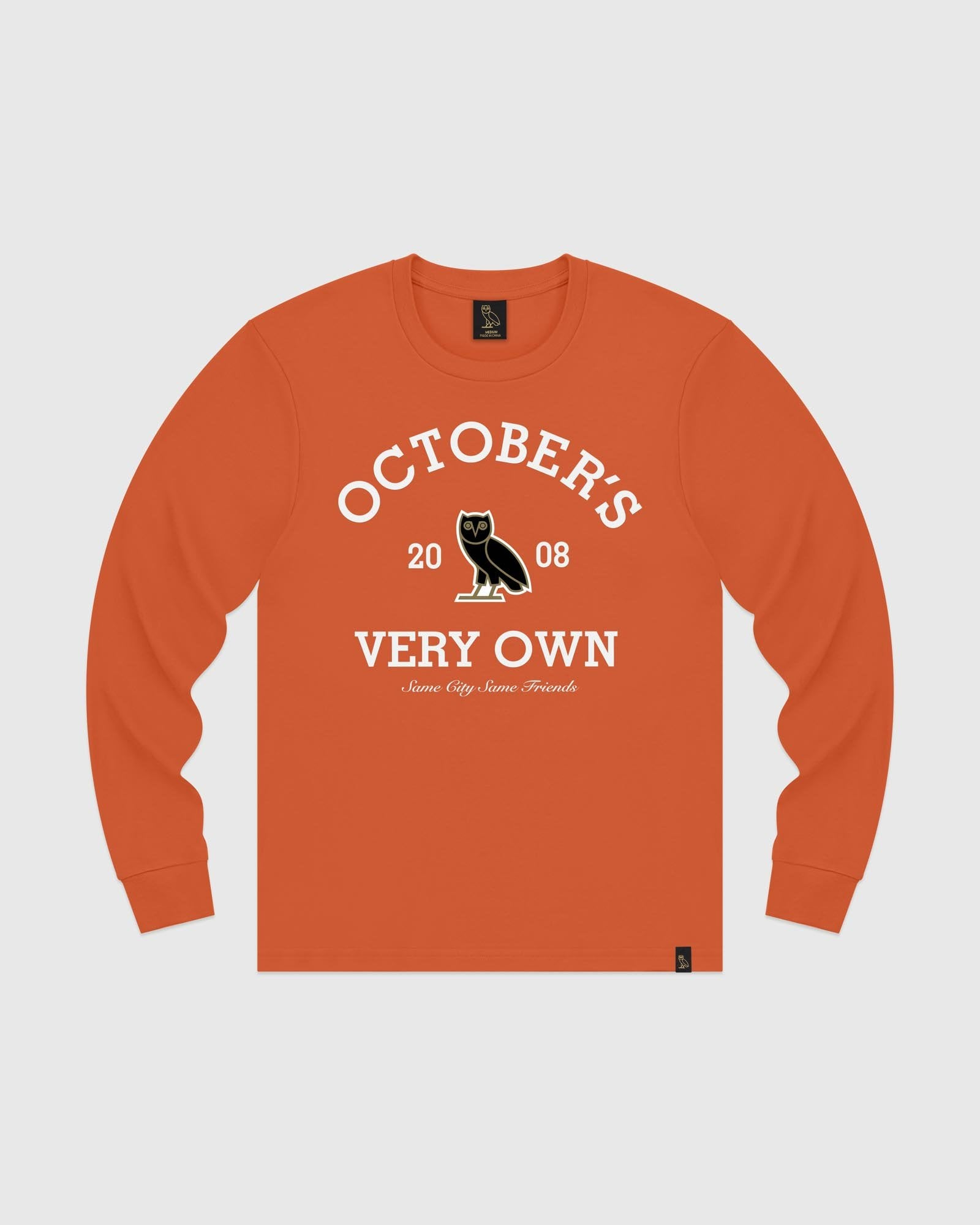COLLEGIATE ARCH LONGSLEEVE T-SHIRT - ORANGE IMAGE #1