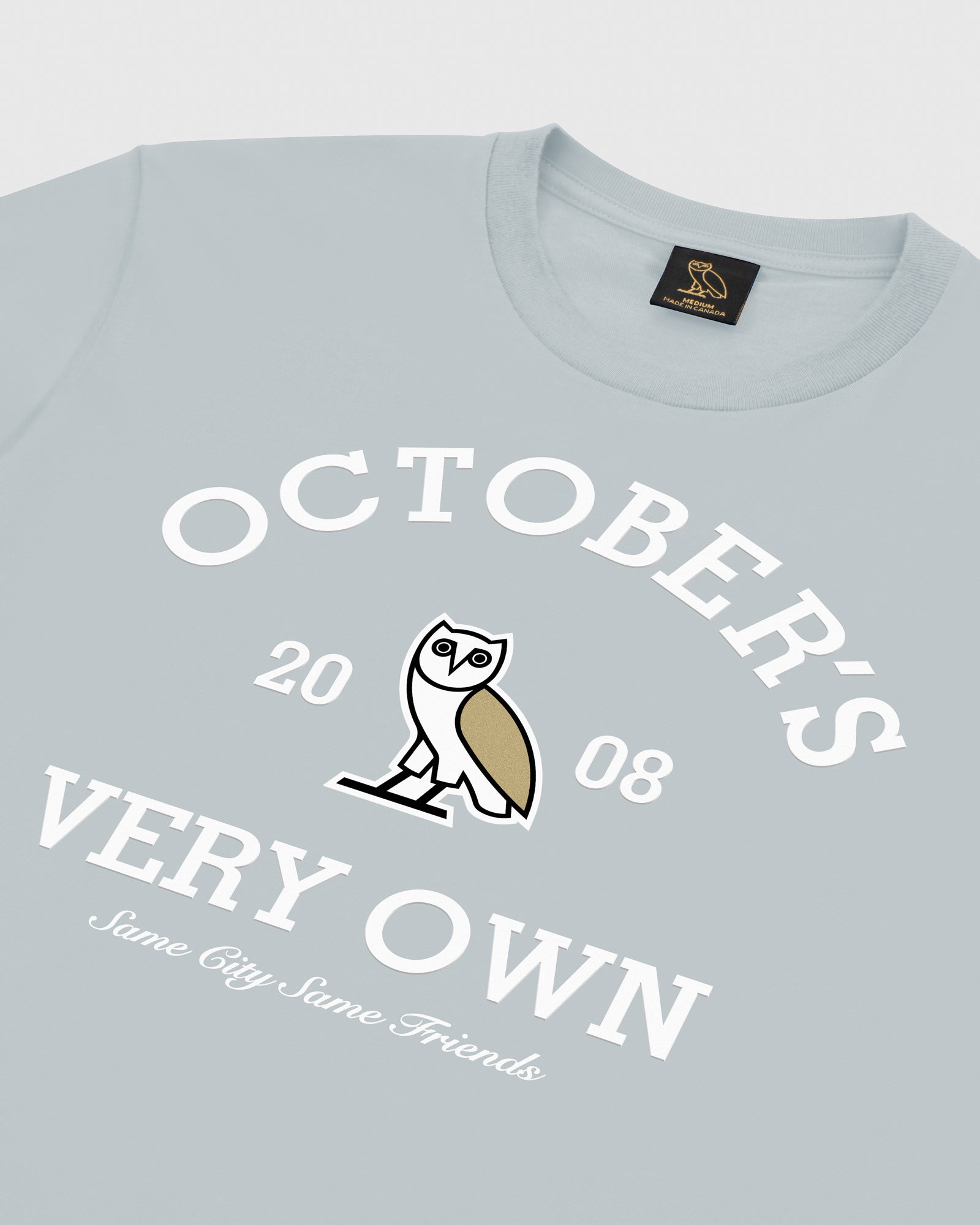OVO COLLEGIATE T-SHIRT - LIGHT BLUE