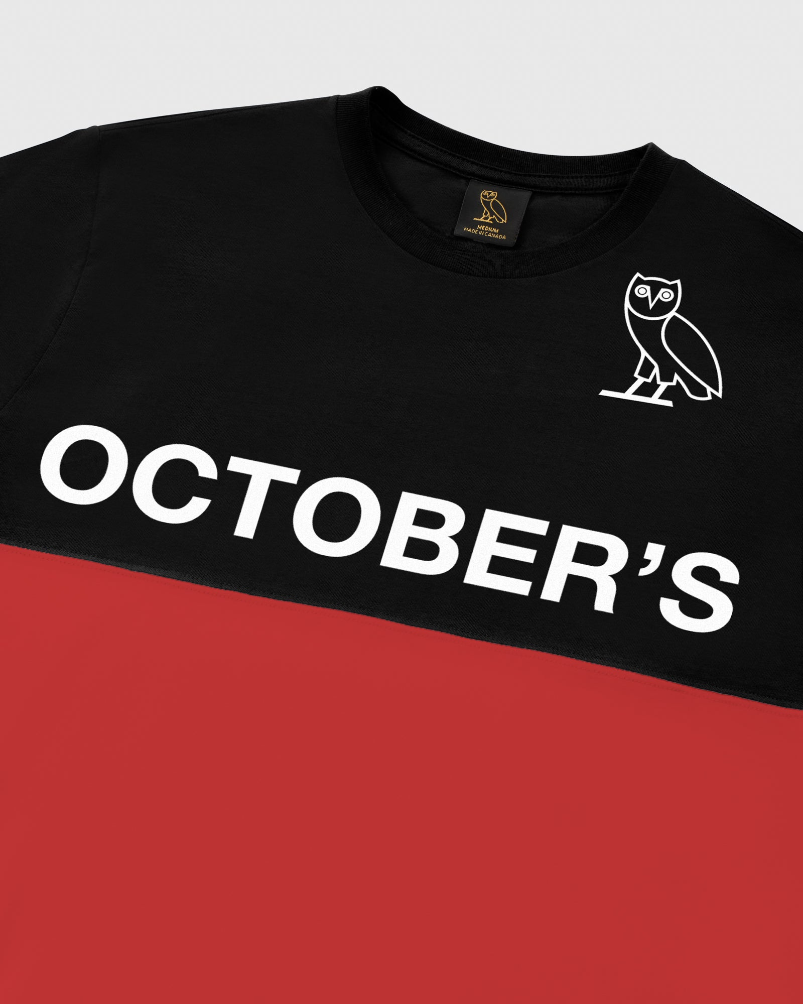 OVO COLOUR BLOCK T-SHIRT - BLACK/RED IMAGE #4