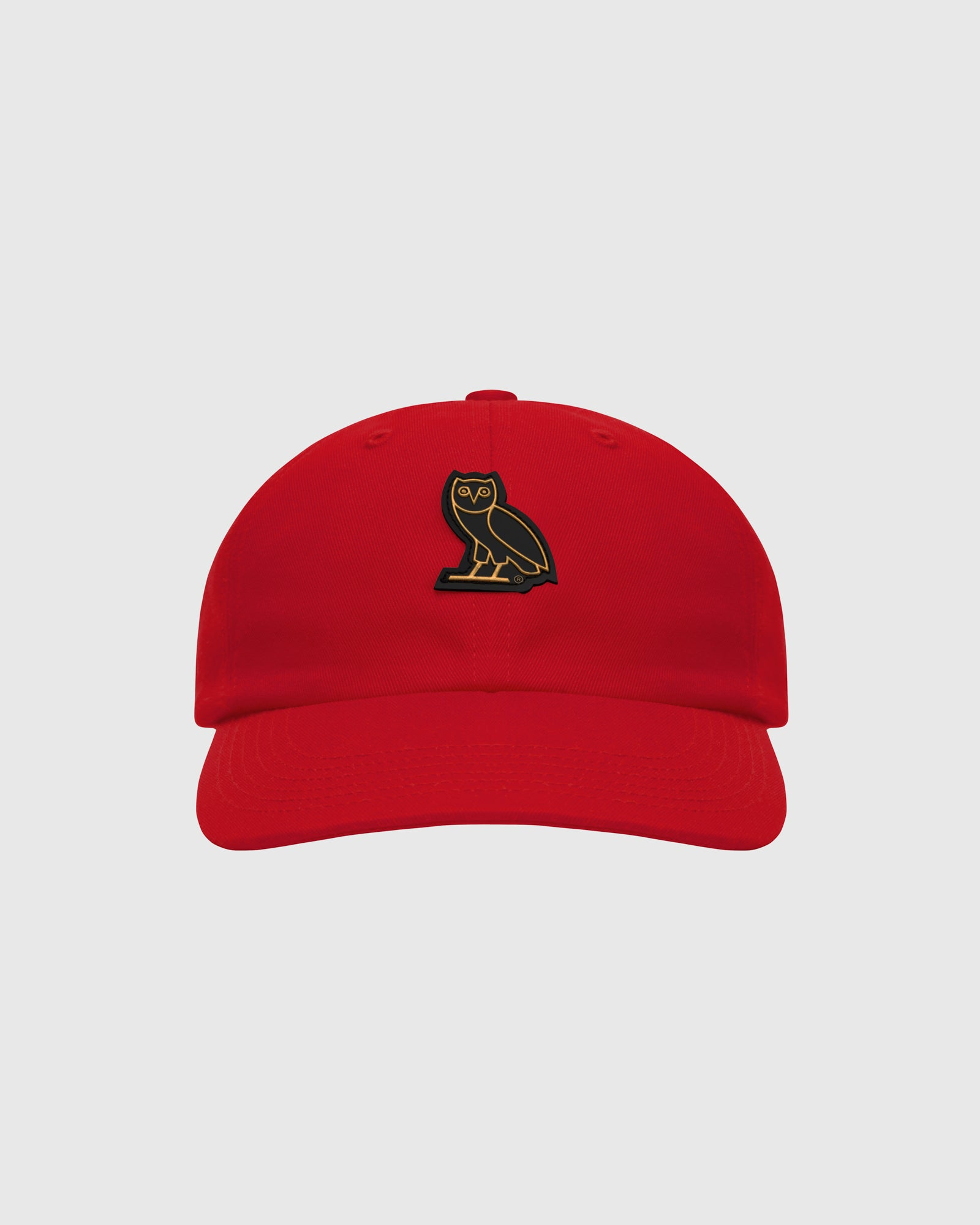 OVO COTTON TWILL CAP - RED IMAGE #1