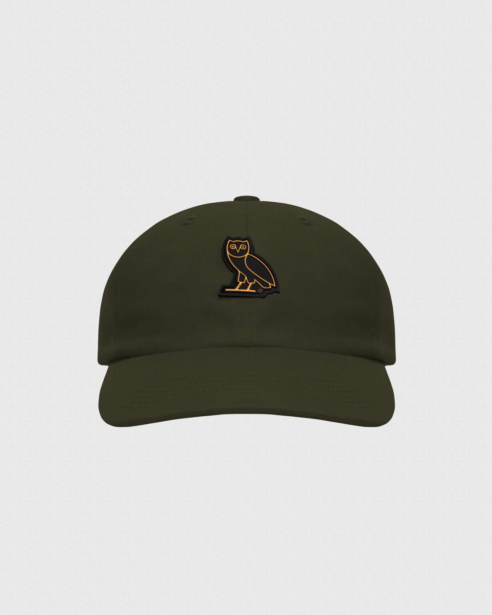 OVO COTTON TWILL CAP - MILITARY GREEN IMAGE #1