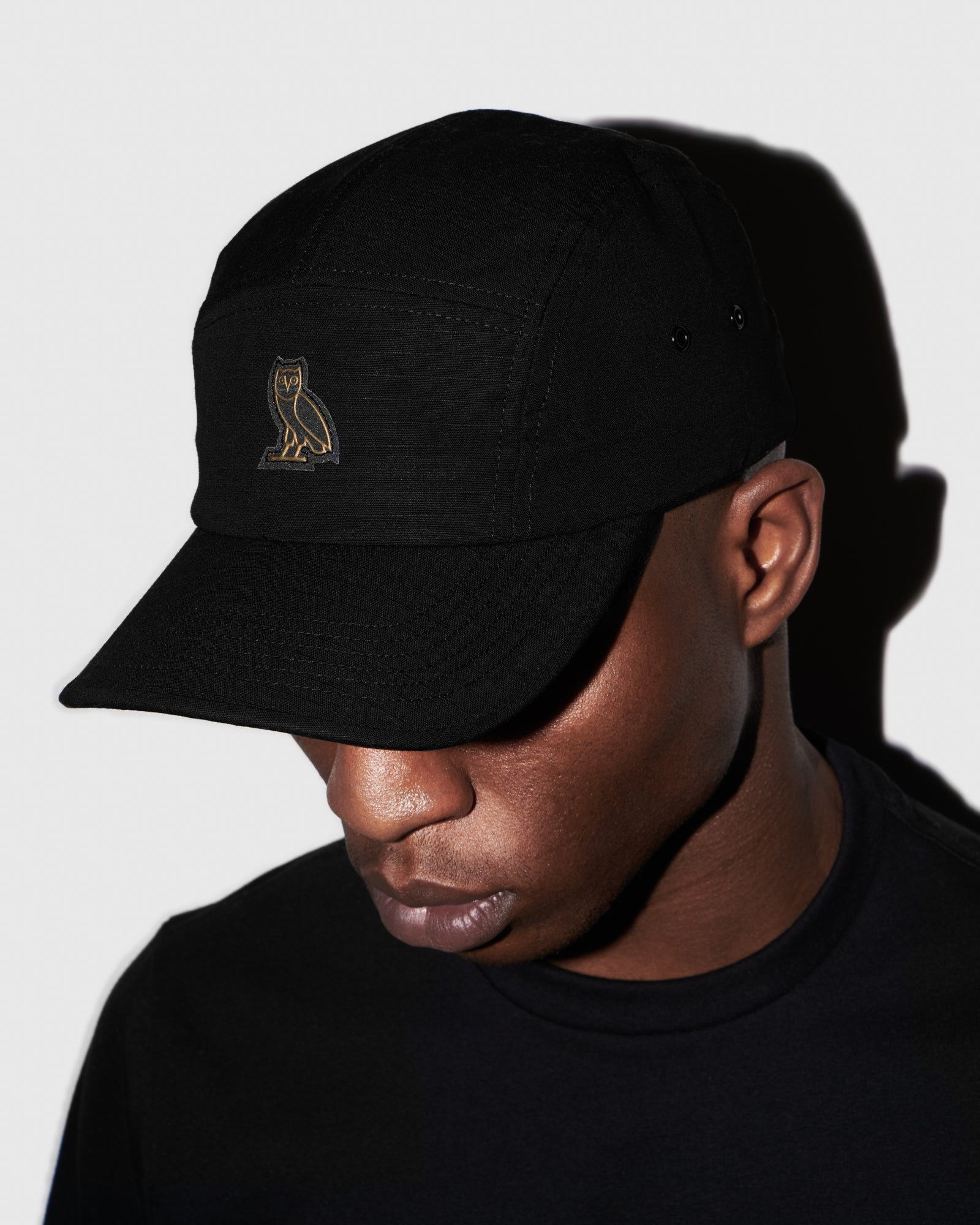 OVO RIPSTOP 5-PANEL CAP - BLACK IMAGE #2