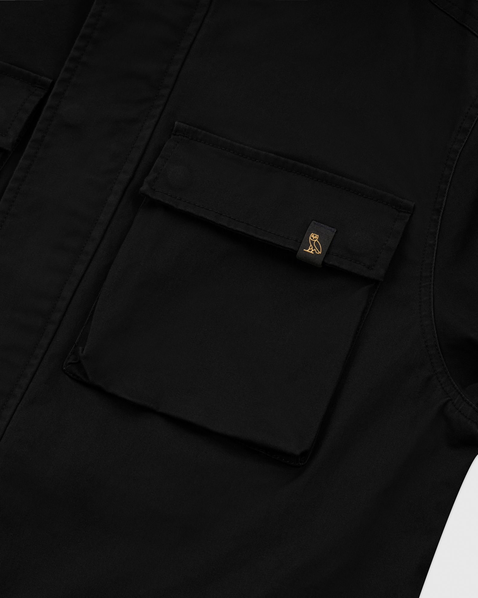 HOODED CARGO JACKET - BLACK IMAGE #3