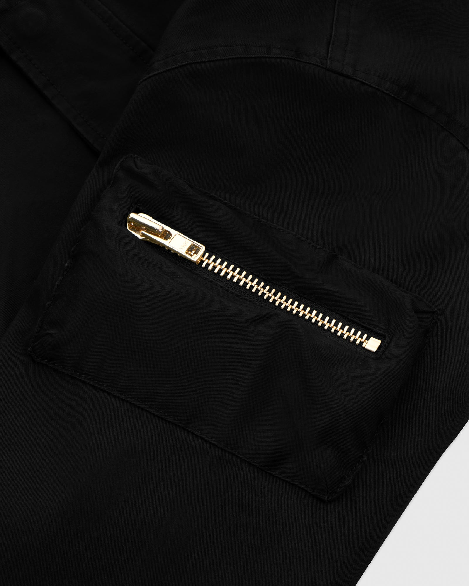 HOODED CARGO JACKET - BLACK IMAGE #4
