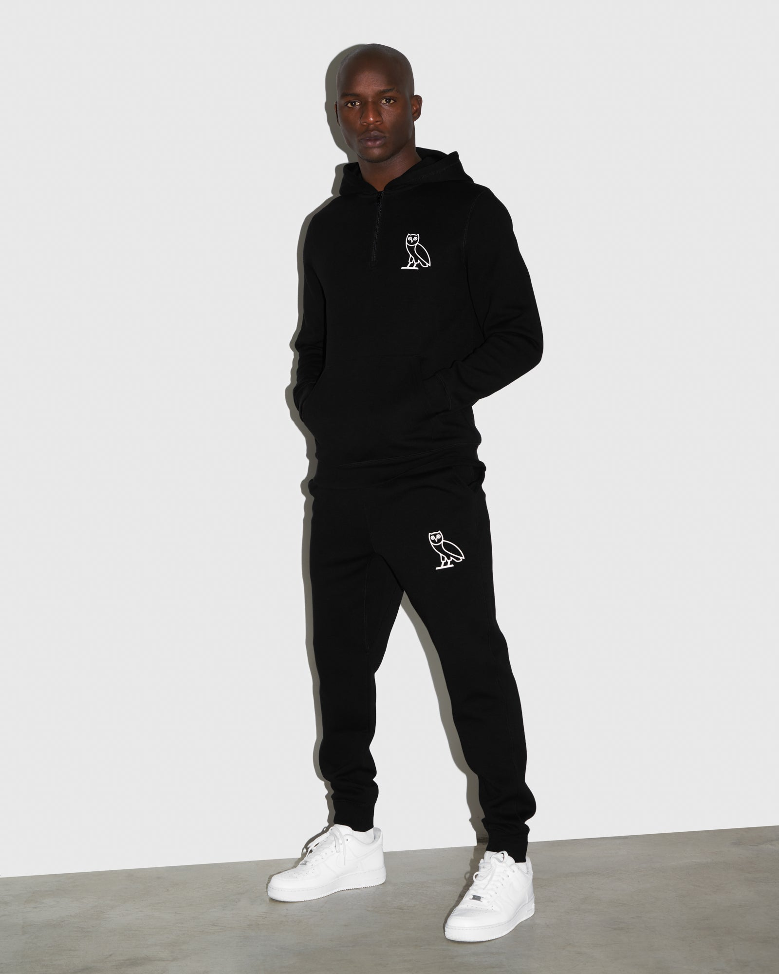 DOUBLE KNIT SWEATPANT - BLACK IMAGE #2