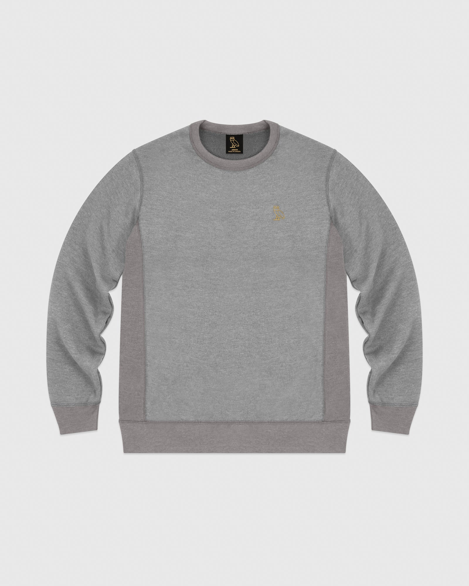 OVO FRENCH TERRY CREW - HEATHER ASH GREY IMAGE #1