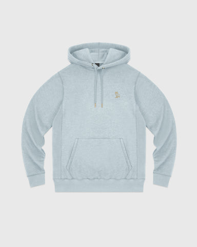 OVO FRENCH TERRY HOODIE - HEATHER LIGHT BLUE