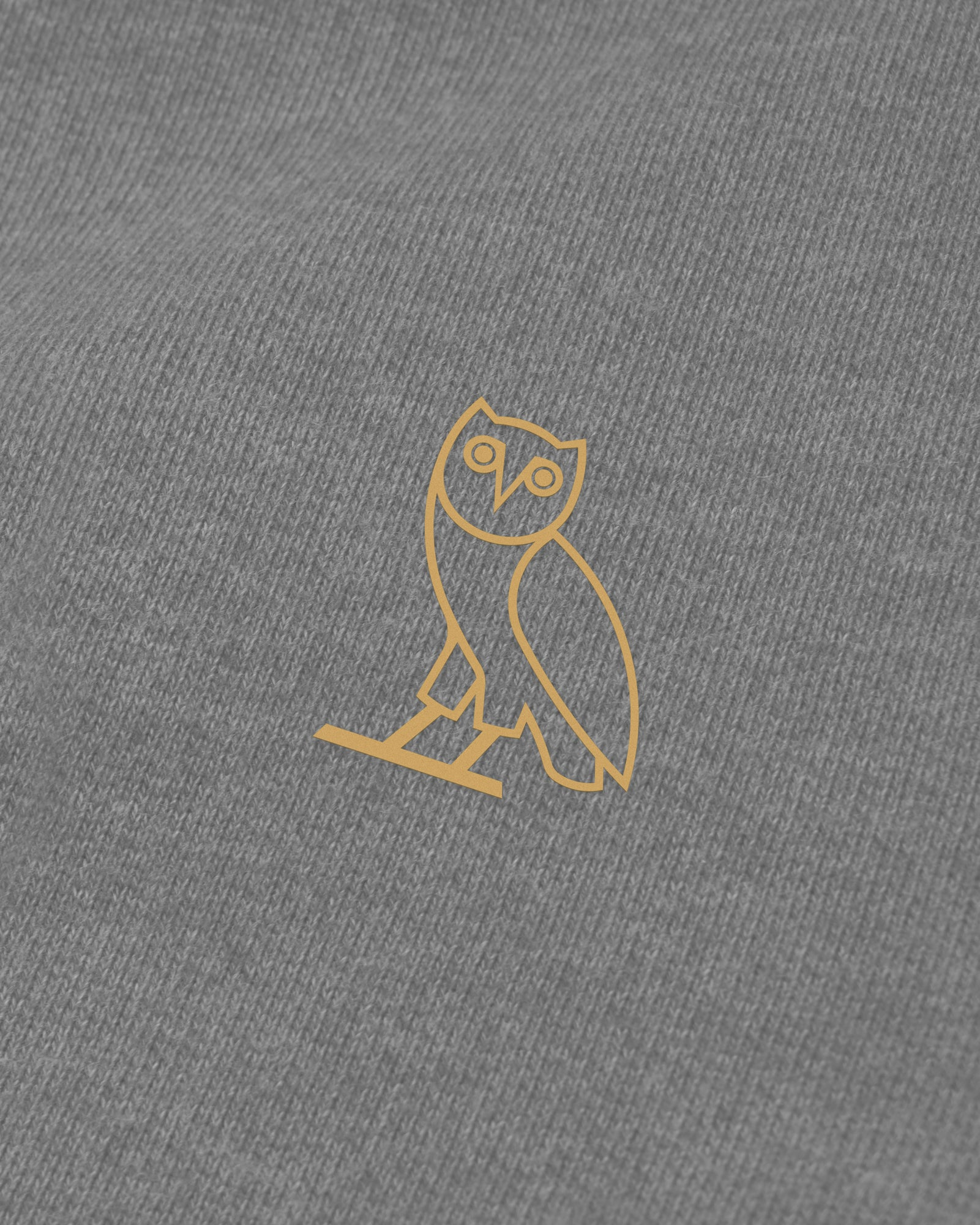 OVO FRENCH TERRY HOODIE - HEATHER ASH GREY IMAGE #3