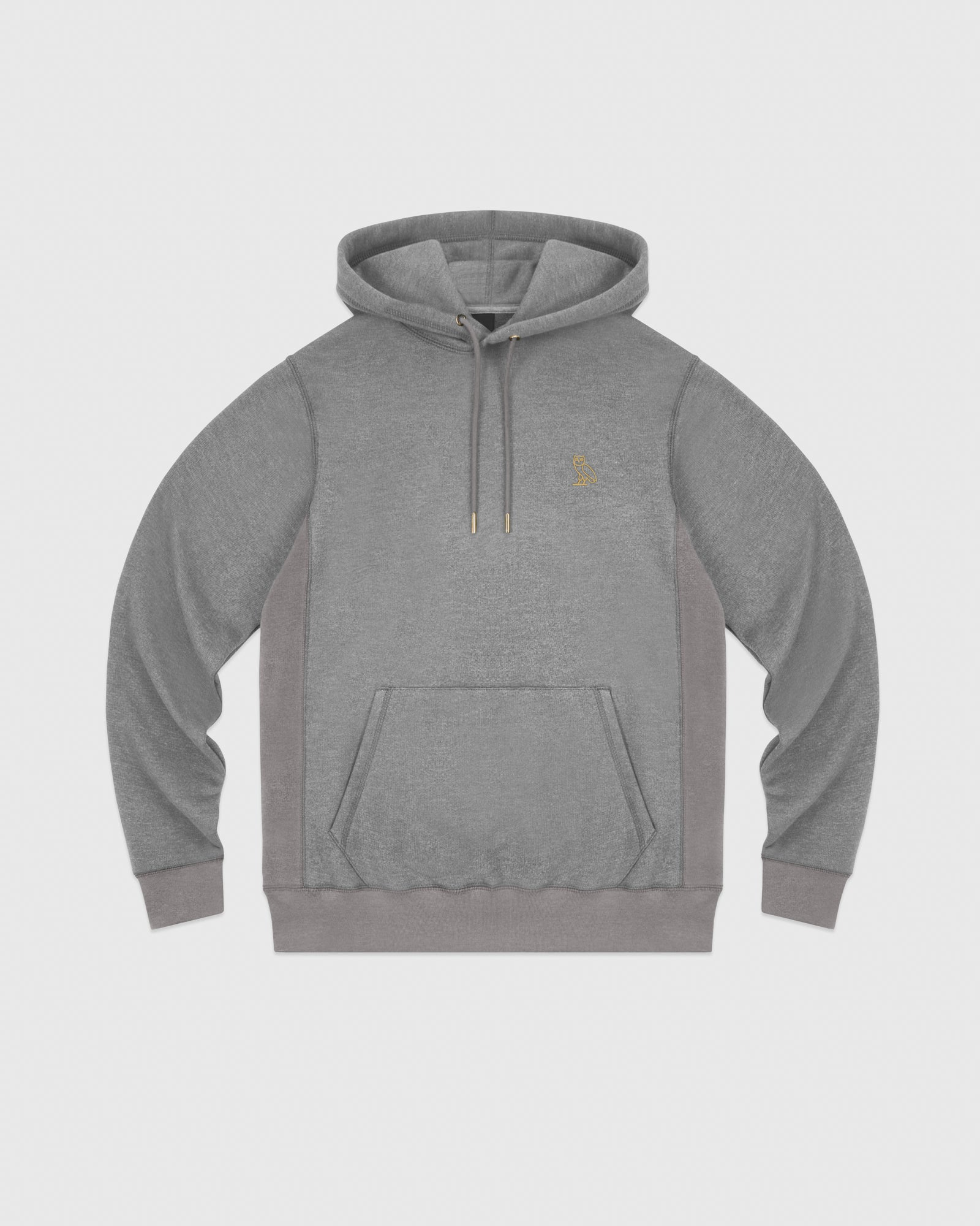 OVO FRENCH TERRY HOODIE - HEATHER ASH GREY IMAGE #1