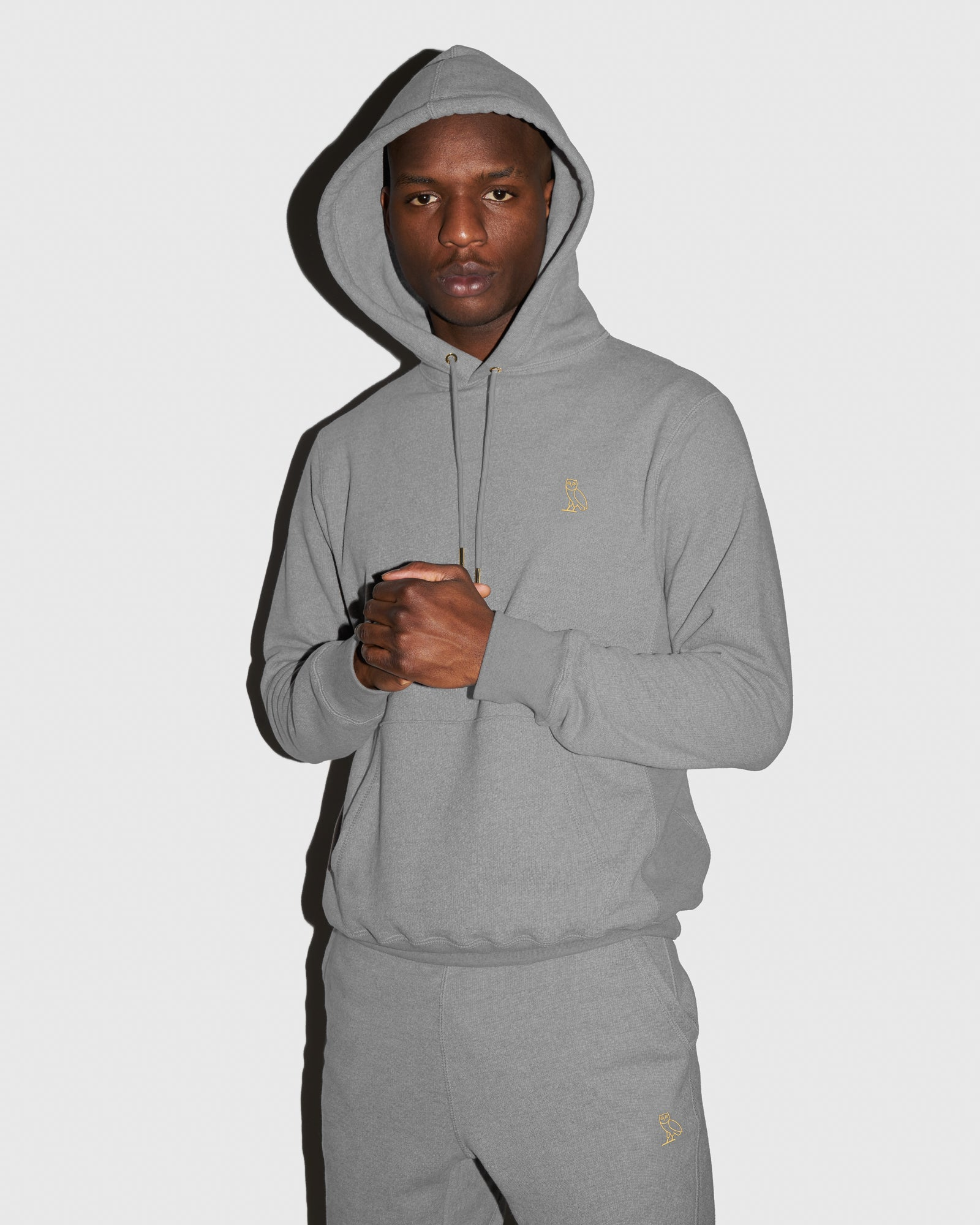 OVO FRENCH TERRY HOODIE - HEATHER ASH GREY IMAGE #2