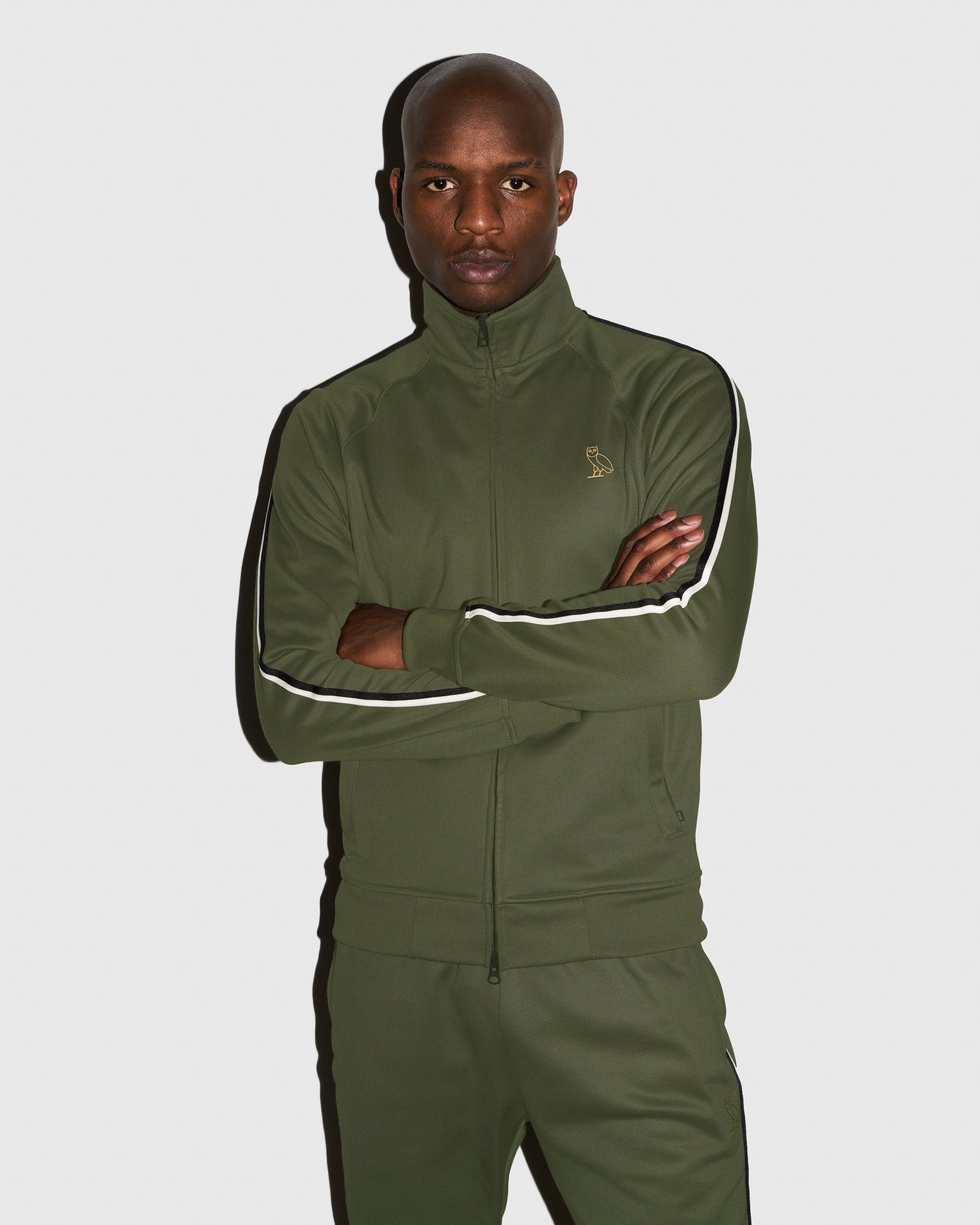OVO PIQUE JACKET - MILITARY GREEN IMAGE #2