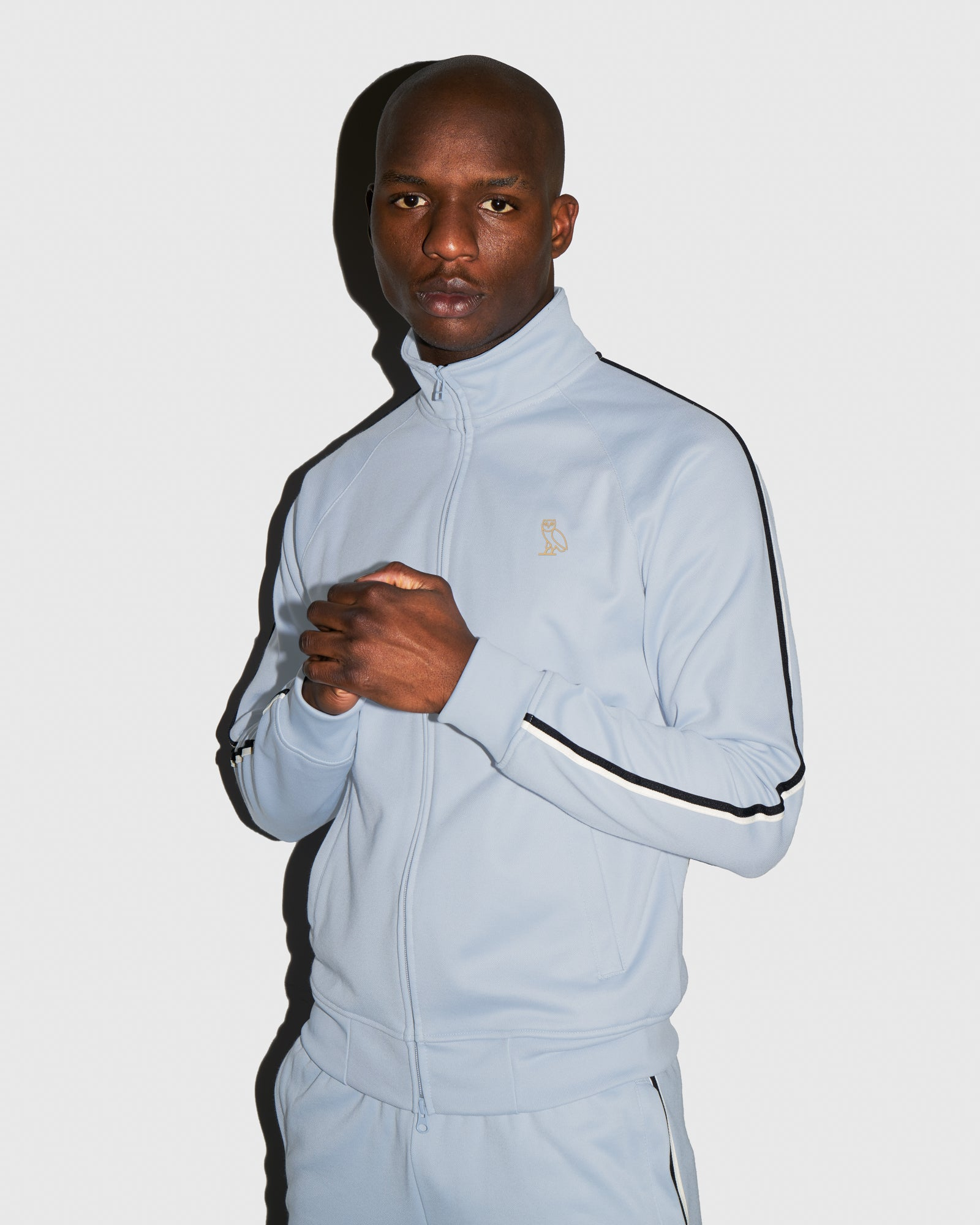 OVO PIQUE JACKET - LIGHT BLUE IMAGE #2
