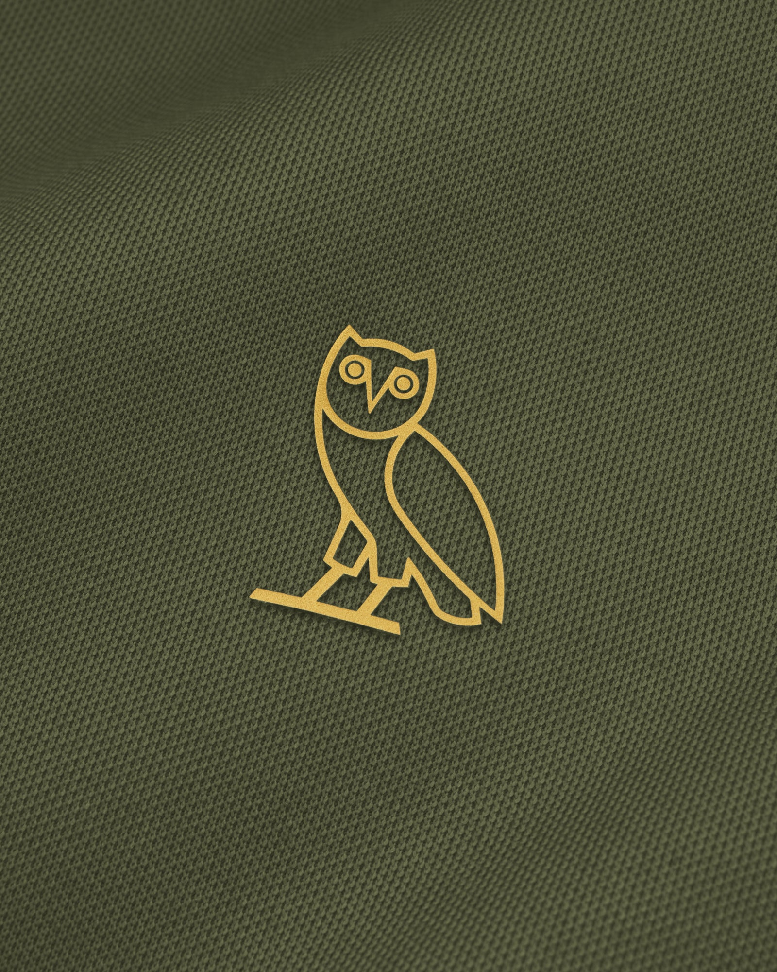 OVO PIQUE JACKET - MILITARY GREEN IMAGE #3