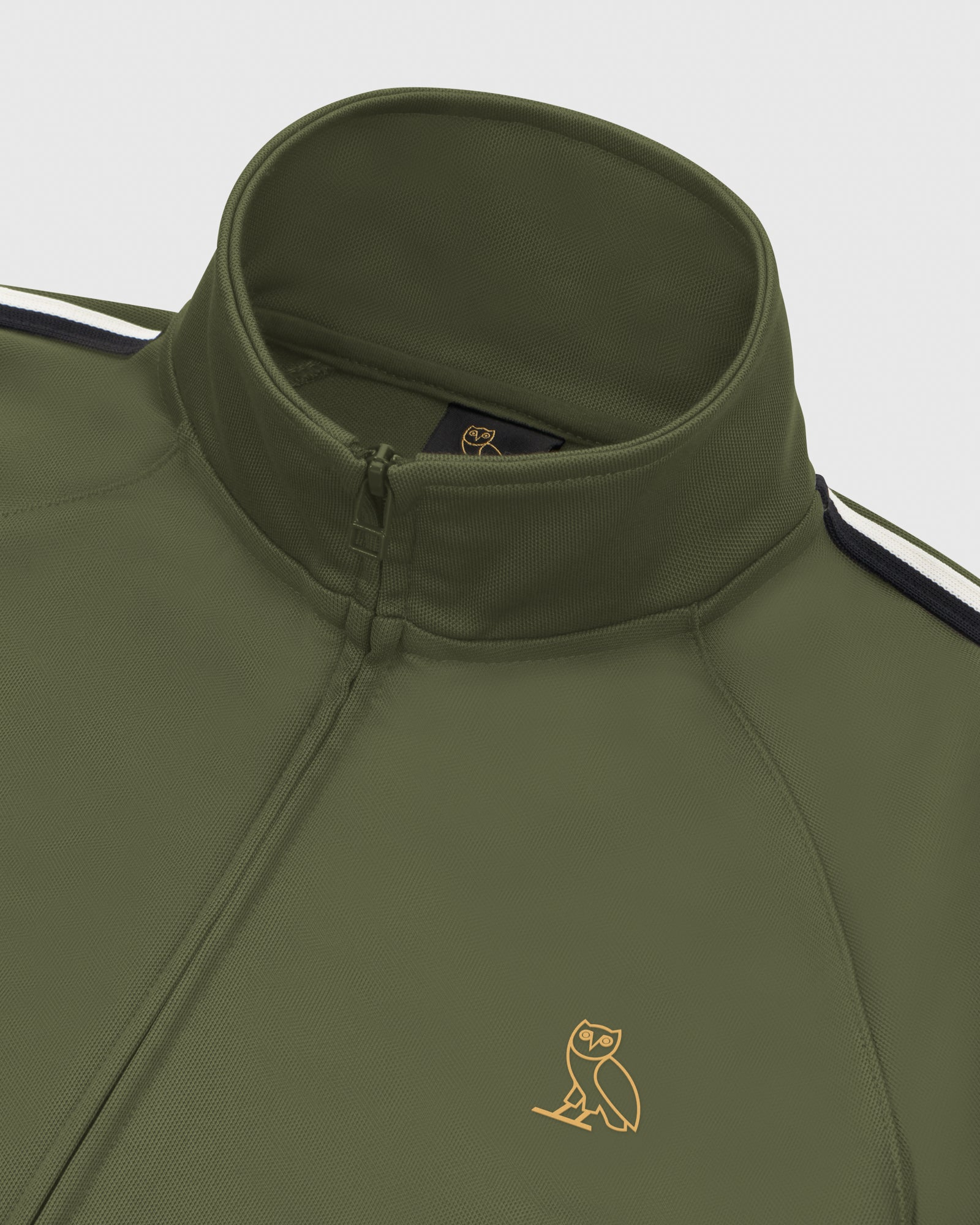 OVO PIQUE JACKET - MILITARY GREEN IMAGE #4