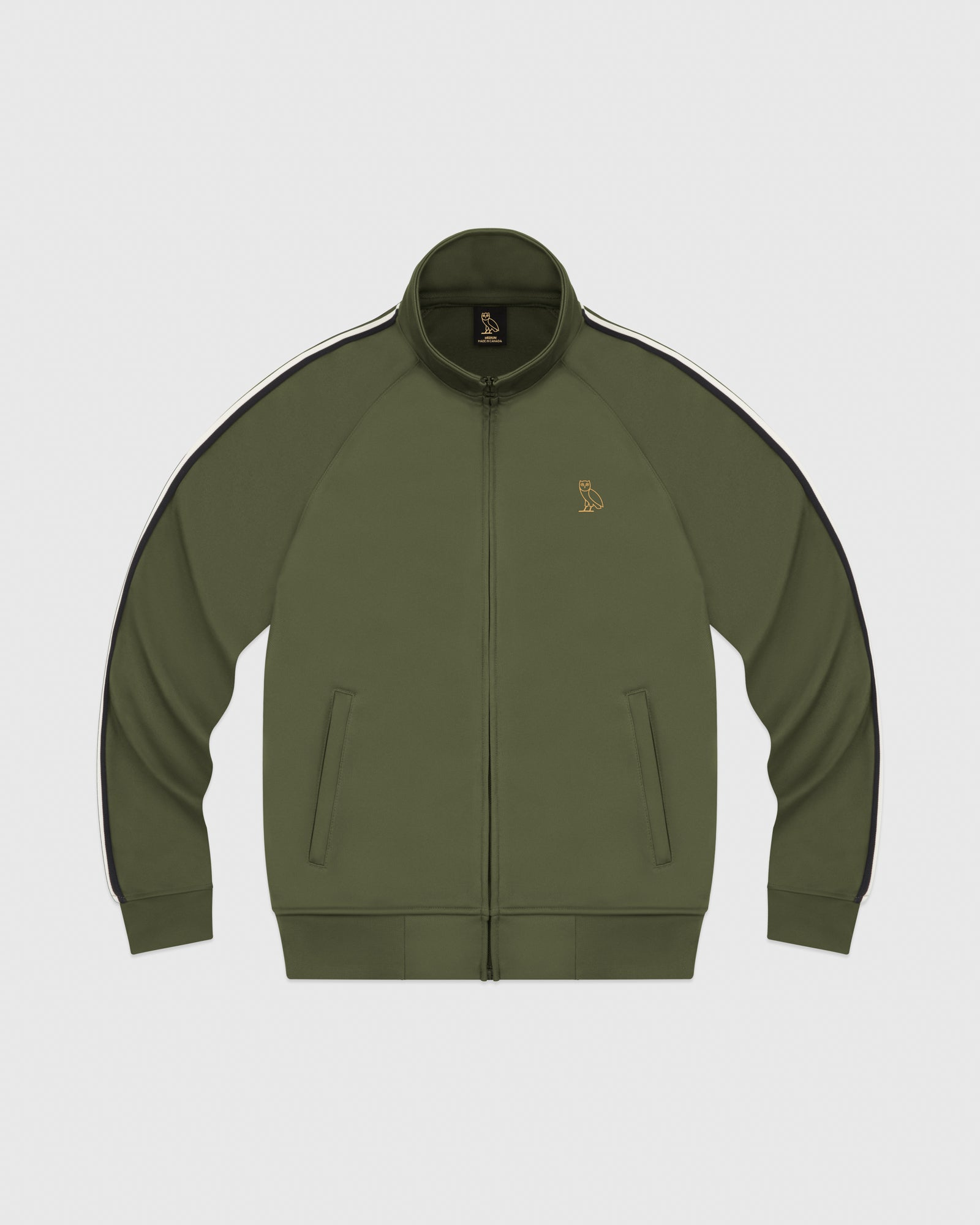 OVO PIQUE JACKET - MILITARY GREEN IMAGE #1