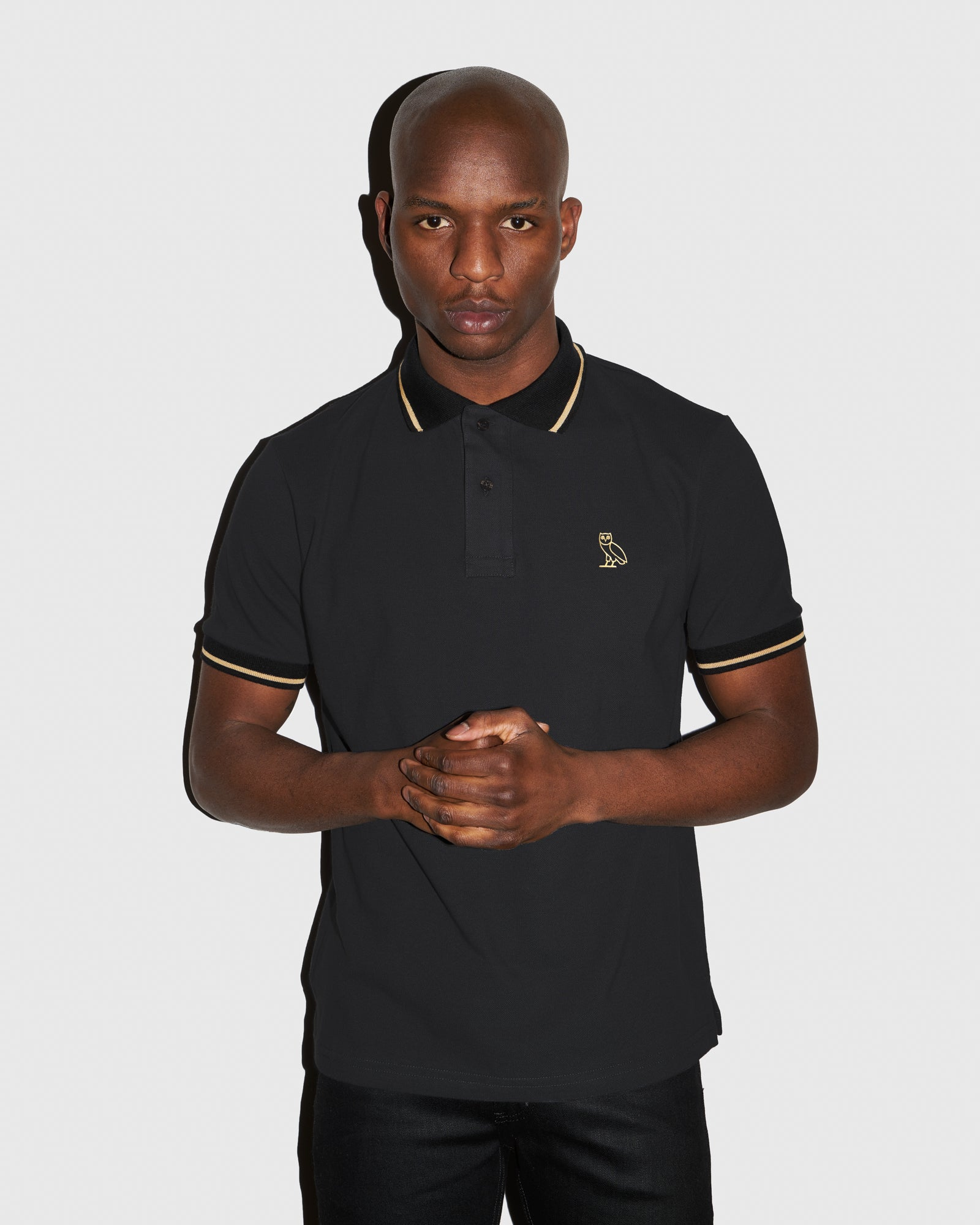 OVO PIQUE POLO - DARK GREY
