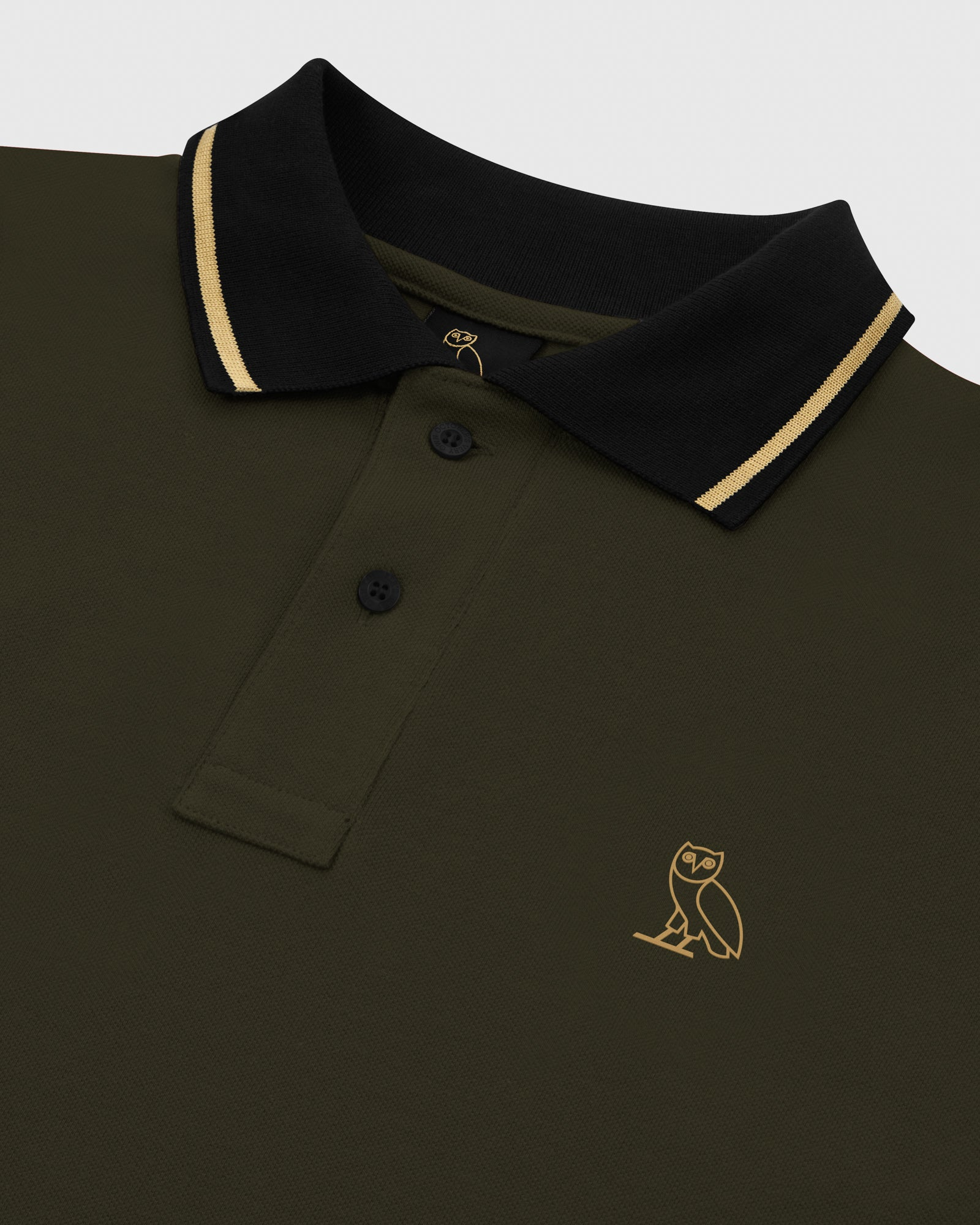 OVO PIQUE POLO - MILITARY GREEN IMAGE #3