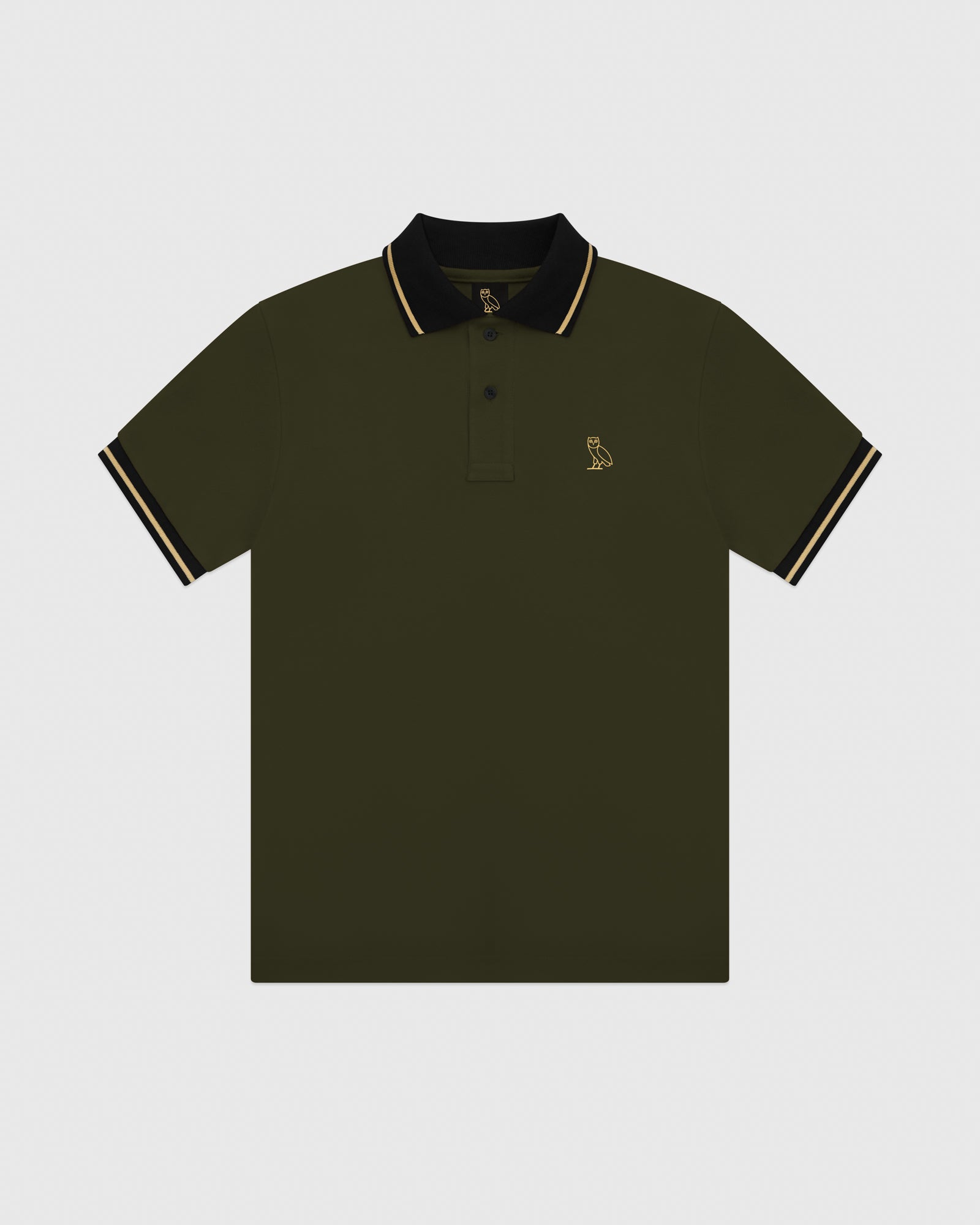 OVO PIQUE POLO - MILITARY GREEN IMAGE #1