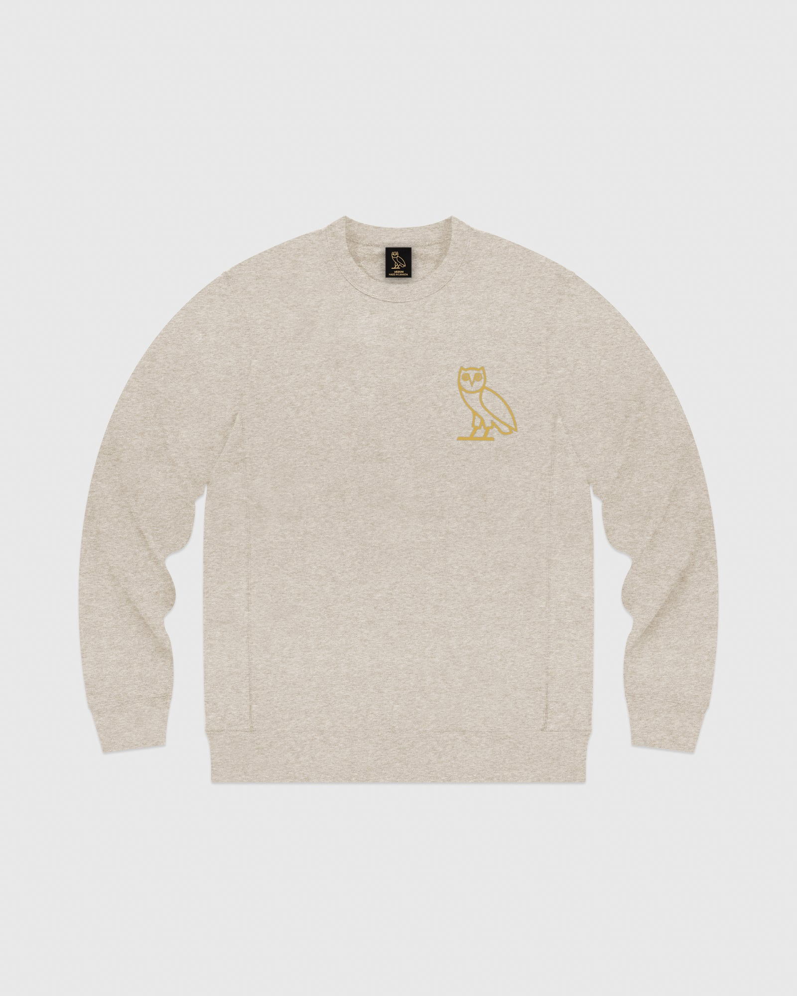 OVO OATMEAL FRENCH TERRY CREW - HEATHER OATMEAL IMAGE #1