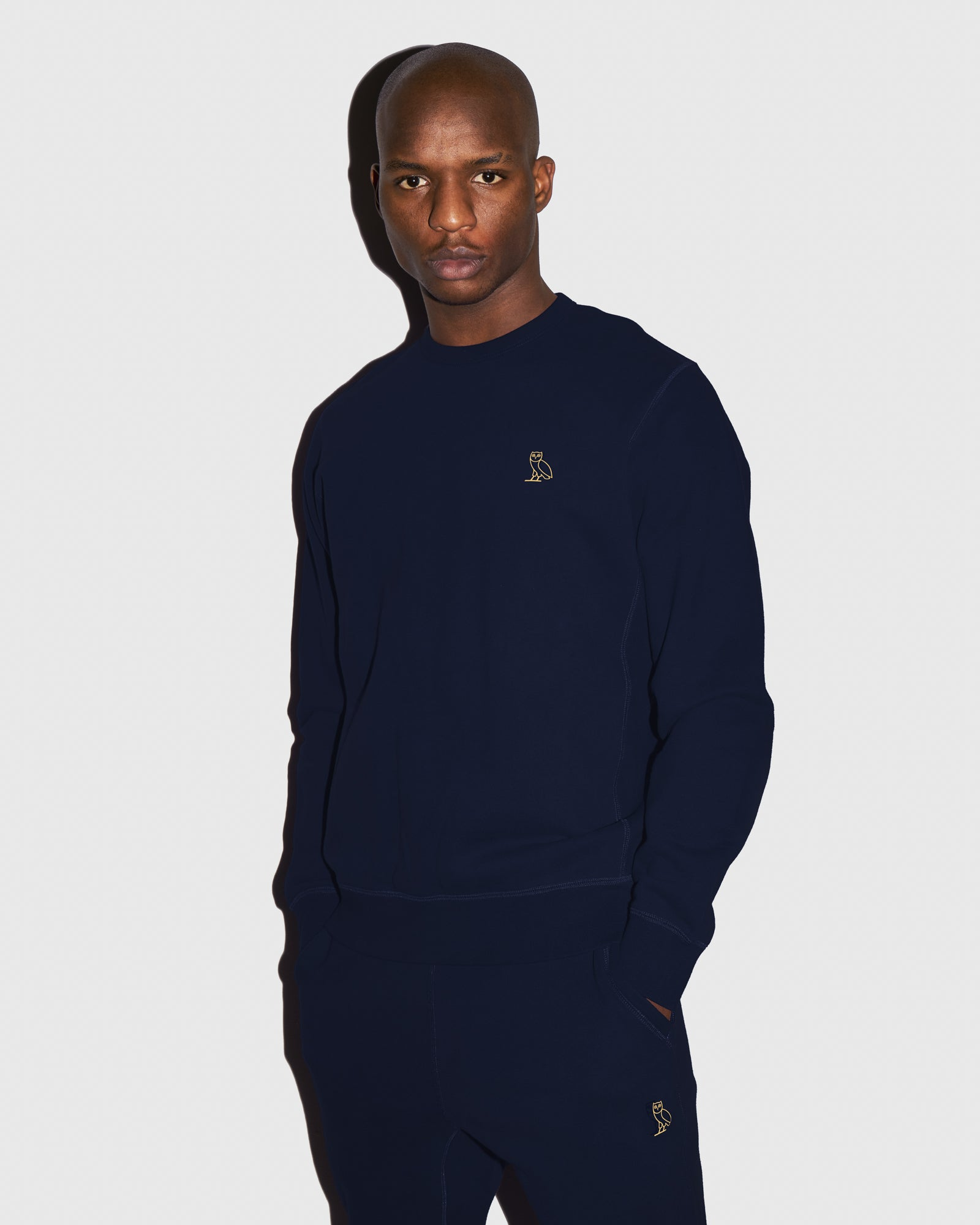 MID-WEIGHT FRENCH TERRY CREW - NAVY