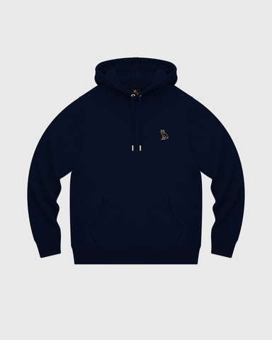 MID-WEIGHT FRENCH TERRY HOODIE - NAVY