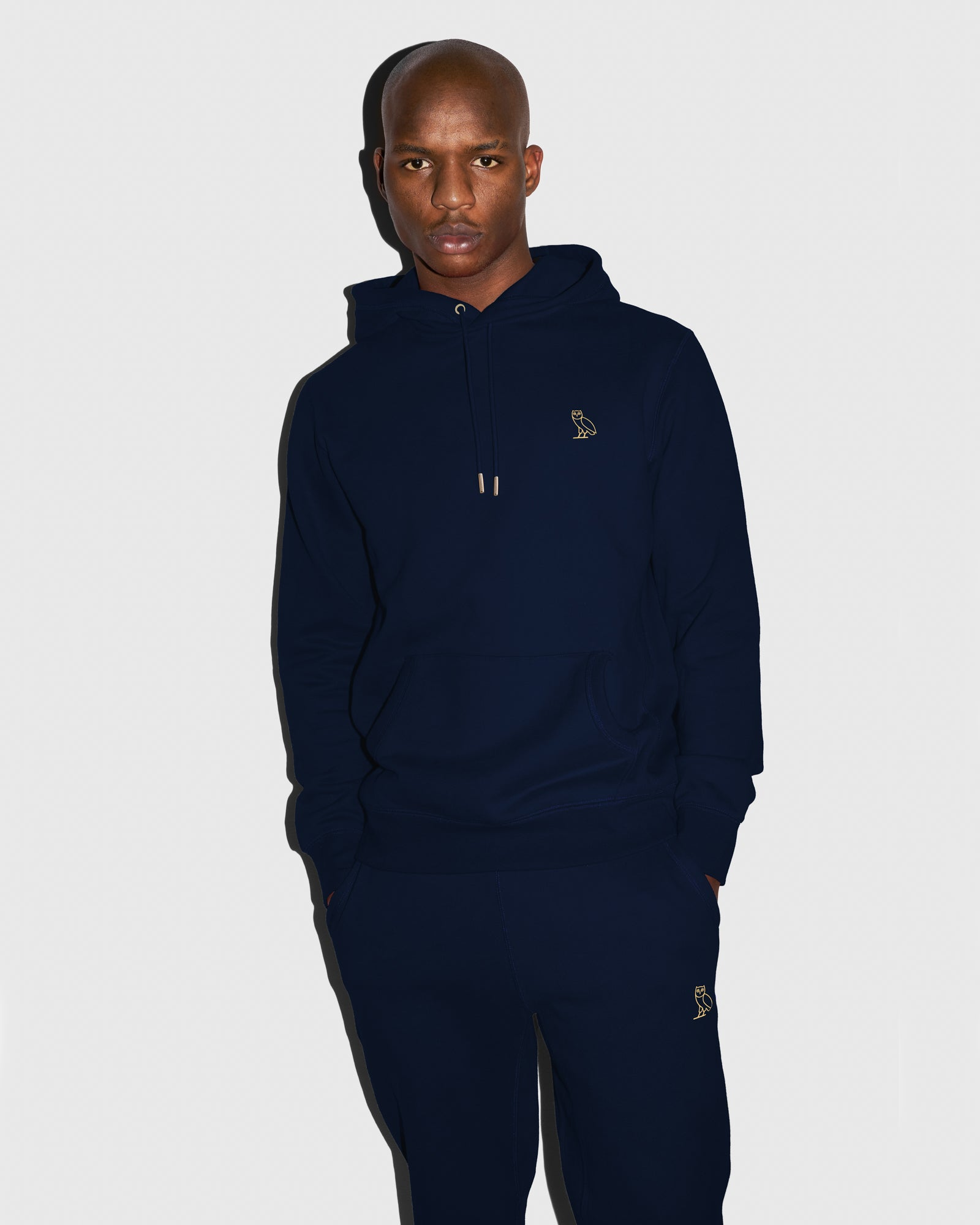 MID-WEIGHT FRENCH TERRY HOODIE - NAVY IMAGE #2