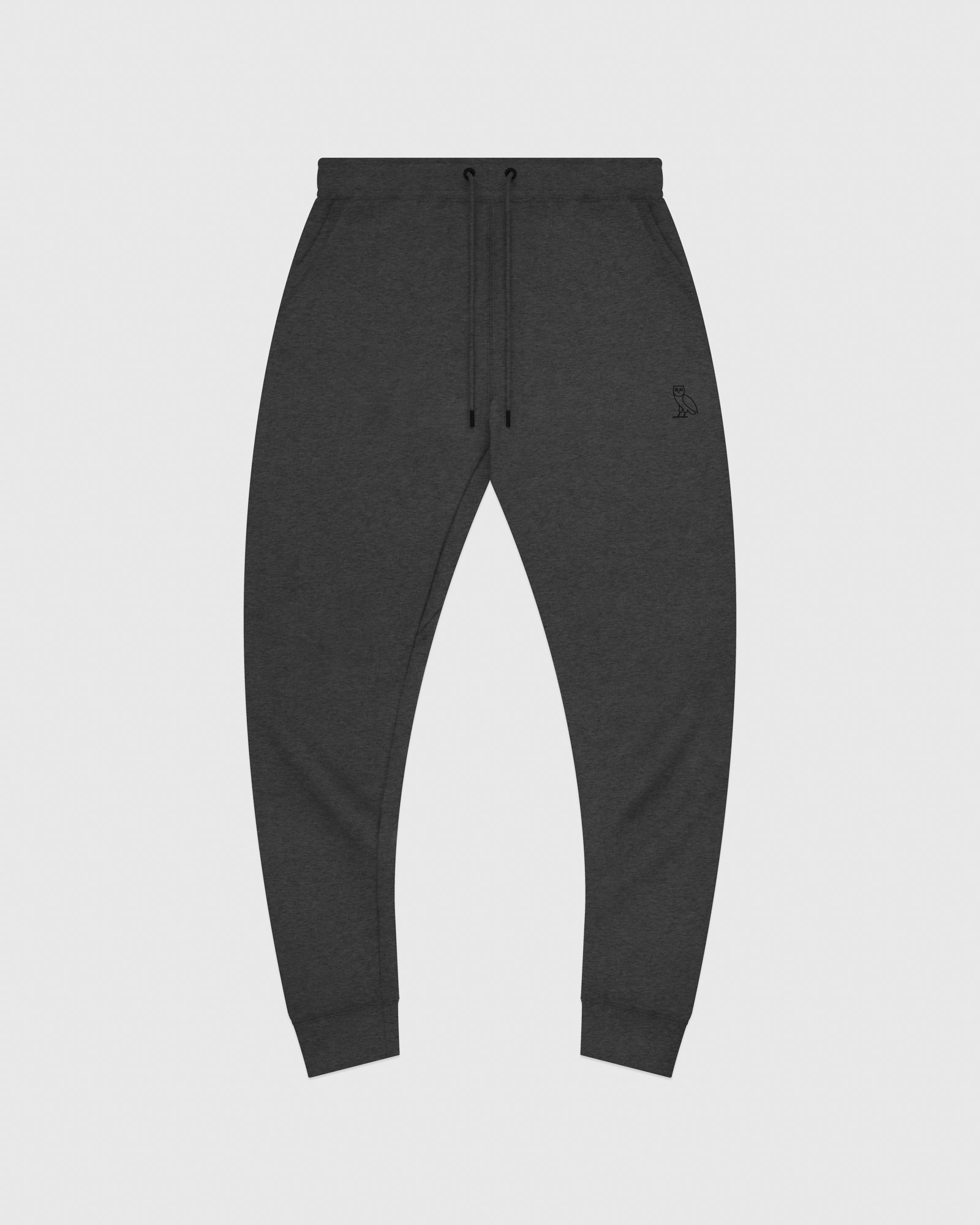 MID-WEIGHT FRENCH TERRY SWEATPANT - HEATHER CHARCOAL IMAGE #1