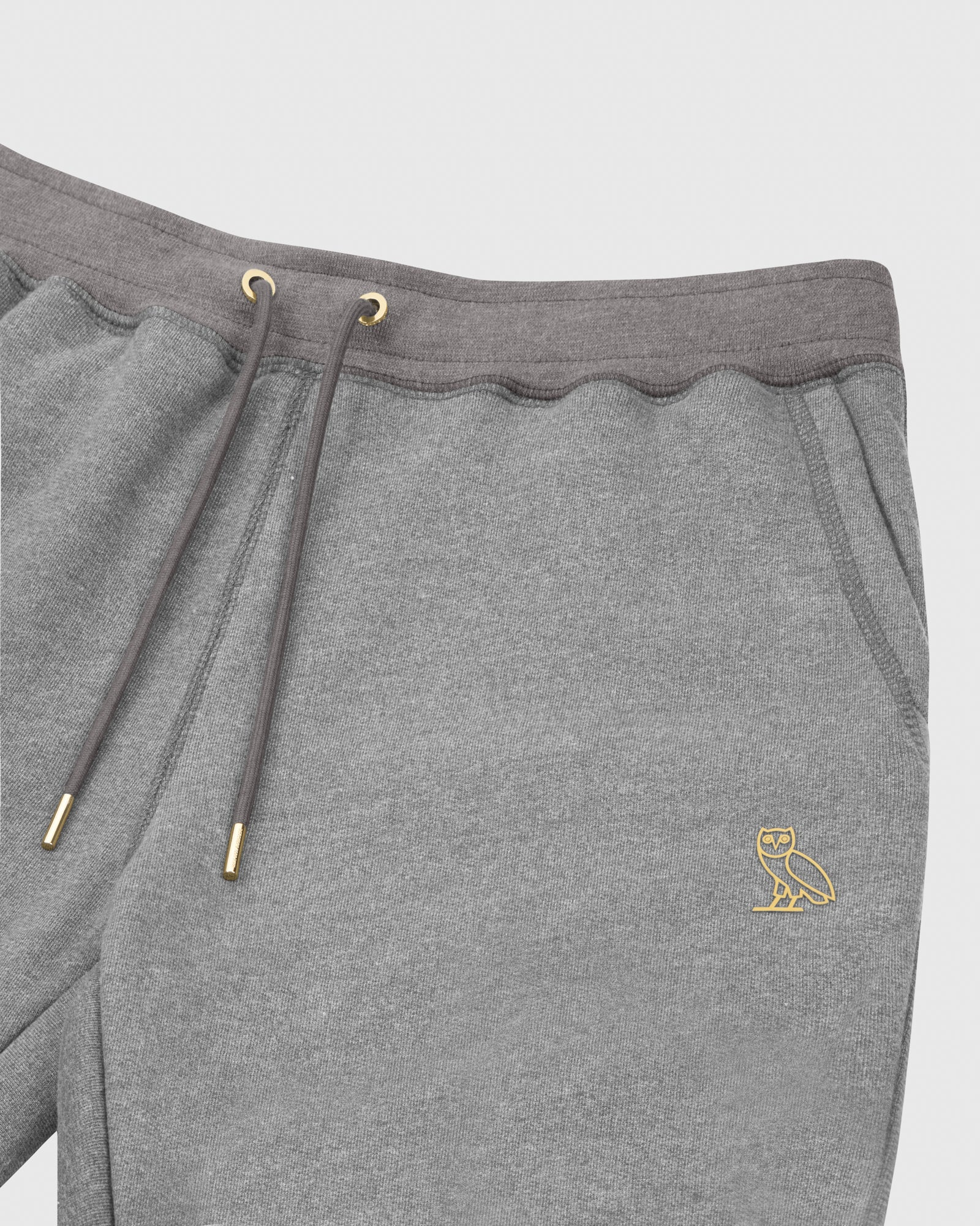 OVO FRENCH TERRY SWEATPANT - HEATHER ASH GREY IMAGE #3