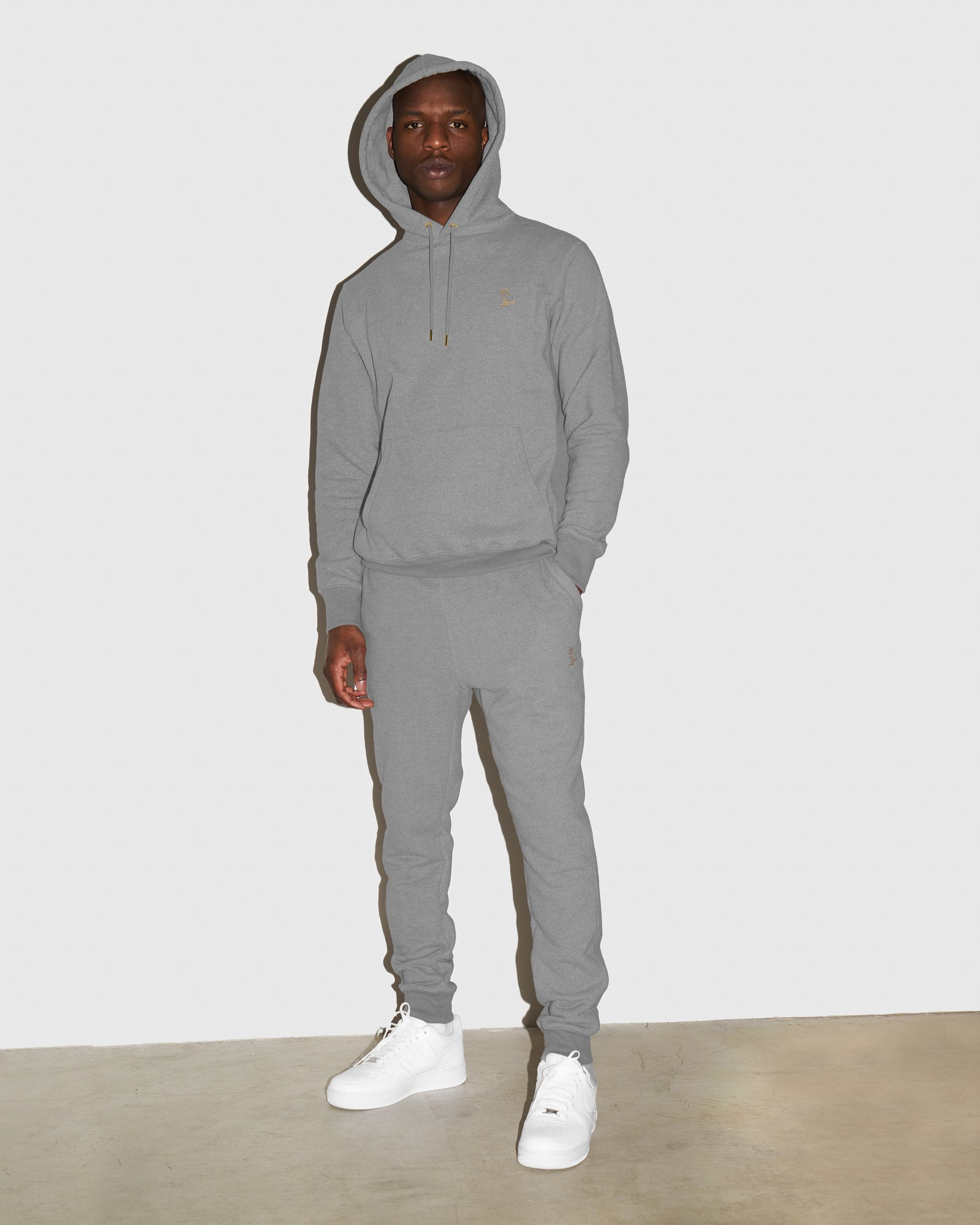 OVO FRENCH TERRY SWEATPANT - HEATHER ASH GREY IMAGE #2